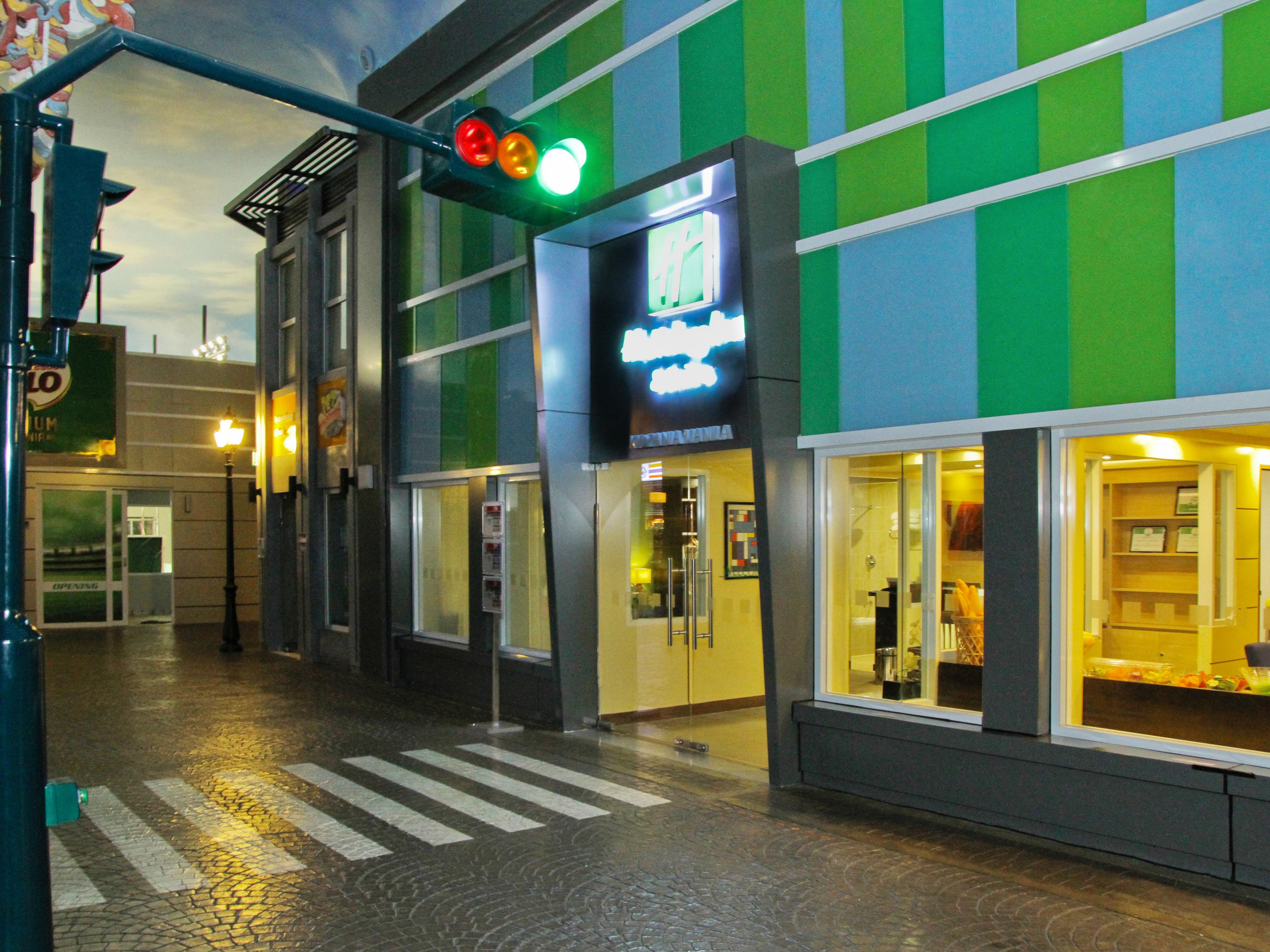 The facade of the Holiday Inn & Suites at KidZania Manila