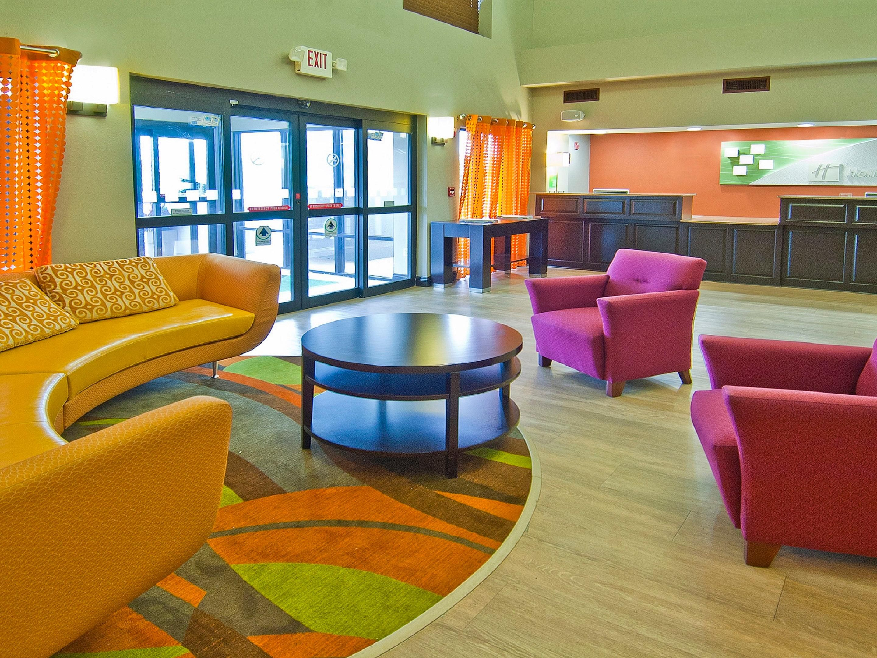 Holiday Inn Opelousas newly updated Lobby and Front Desk Area