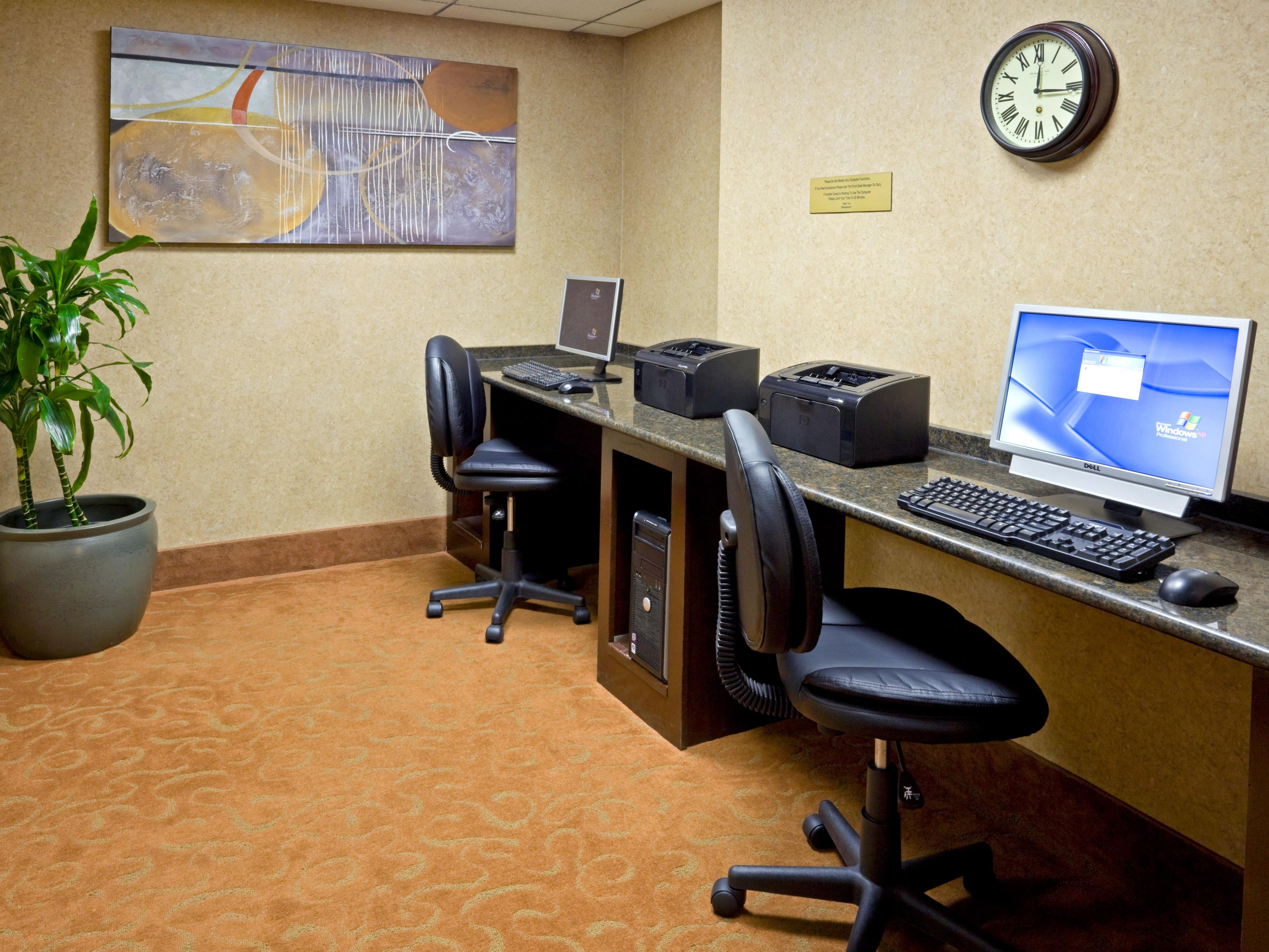 Got a last minute report to do? Get it done in our Business Center