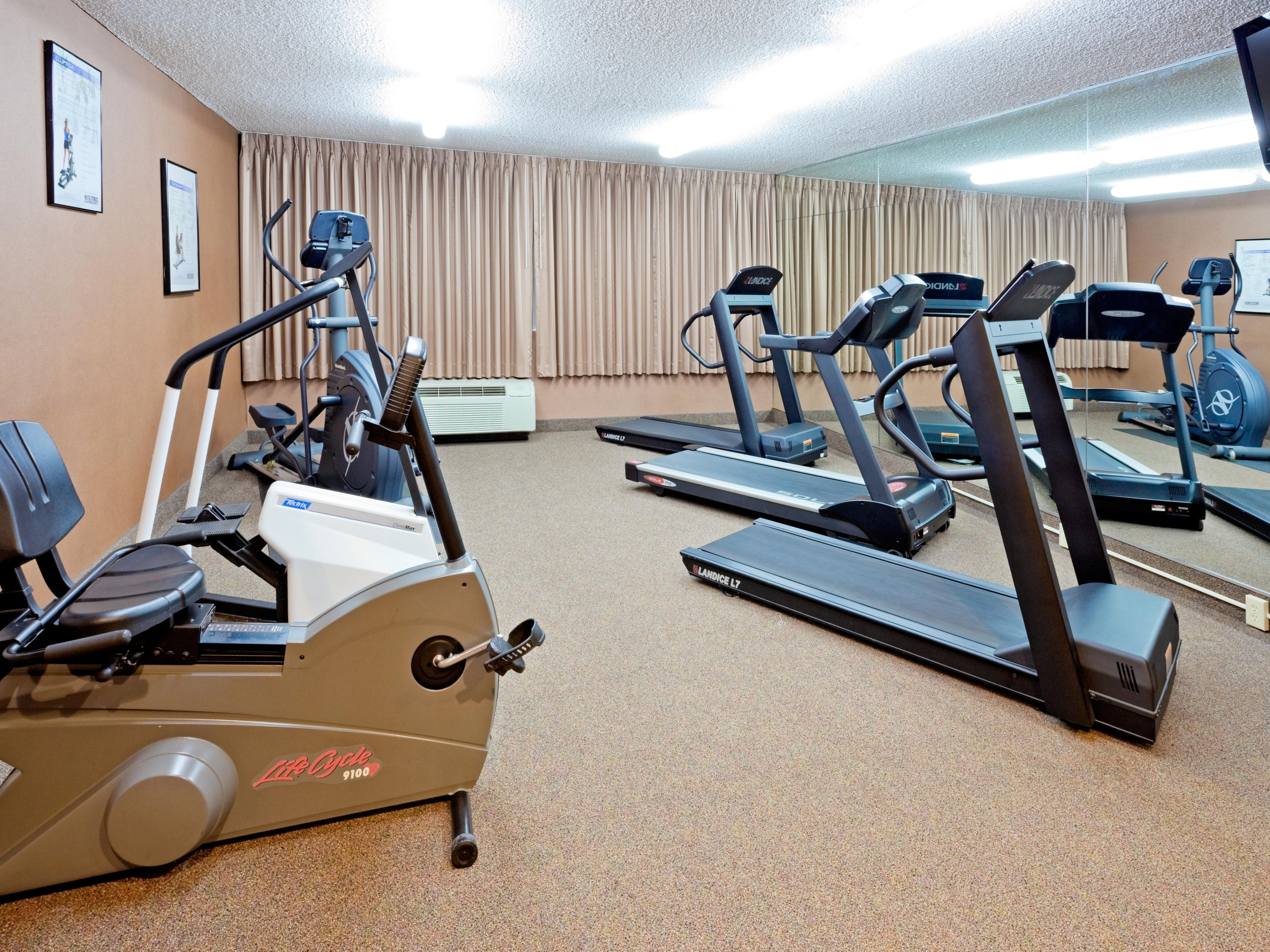 Pick your choice of equipment to satisfy your exercising needs