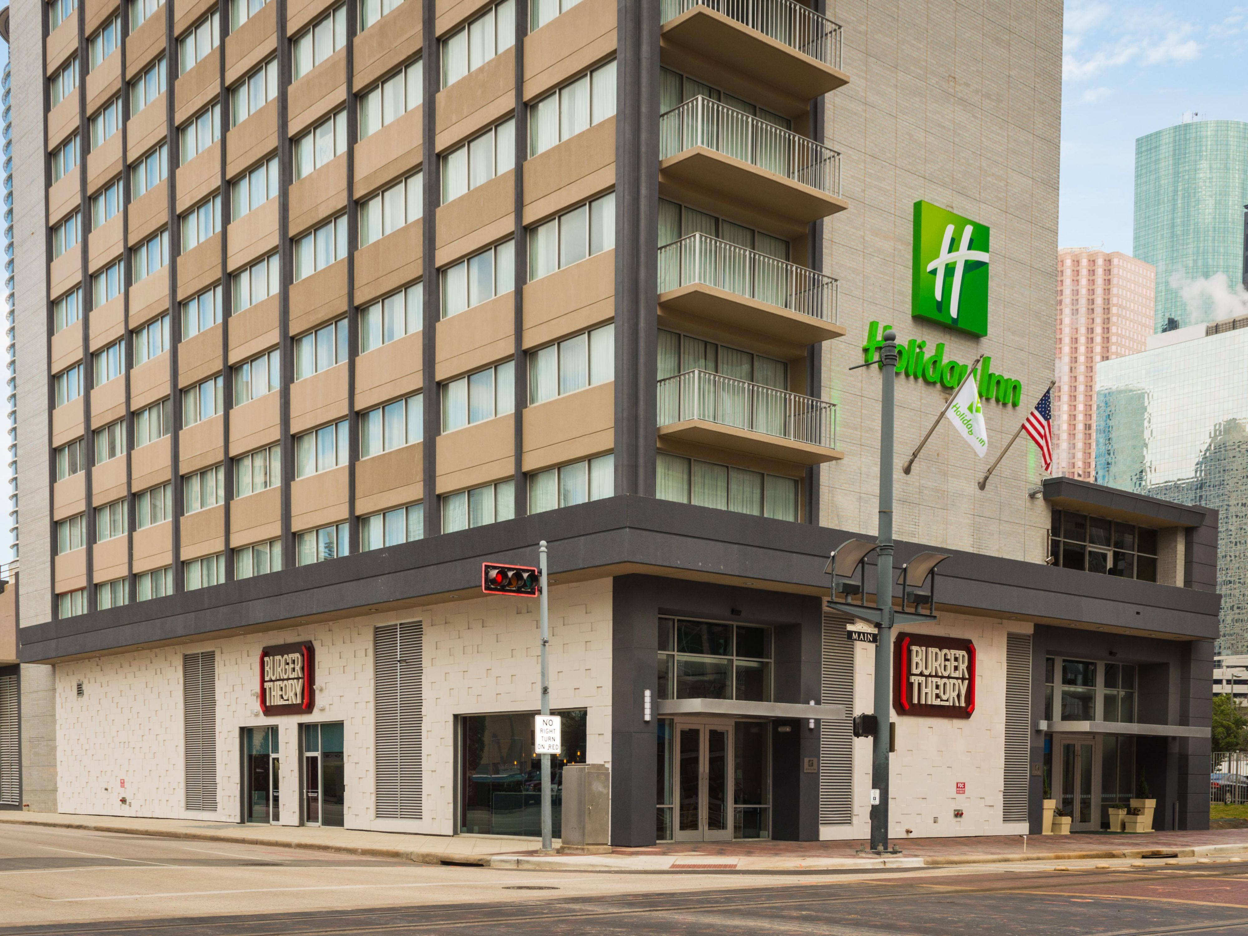 Welcome to the Holiday Inn Houston Downtown and Burger Theory