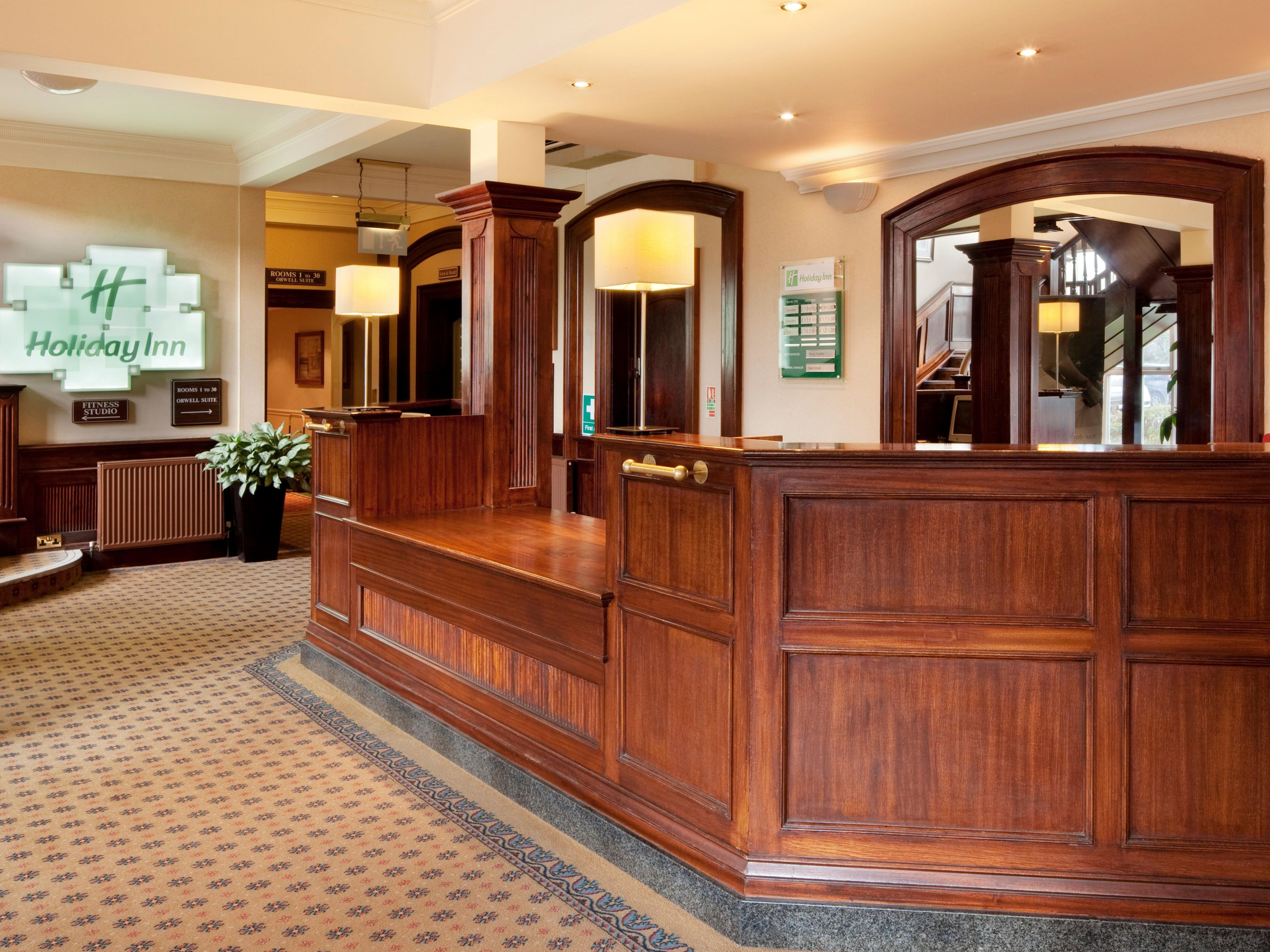 A warm welcome awaits you at reception