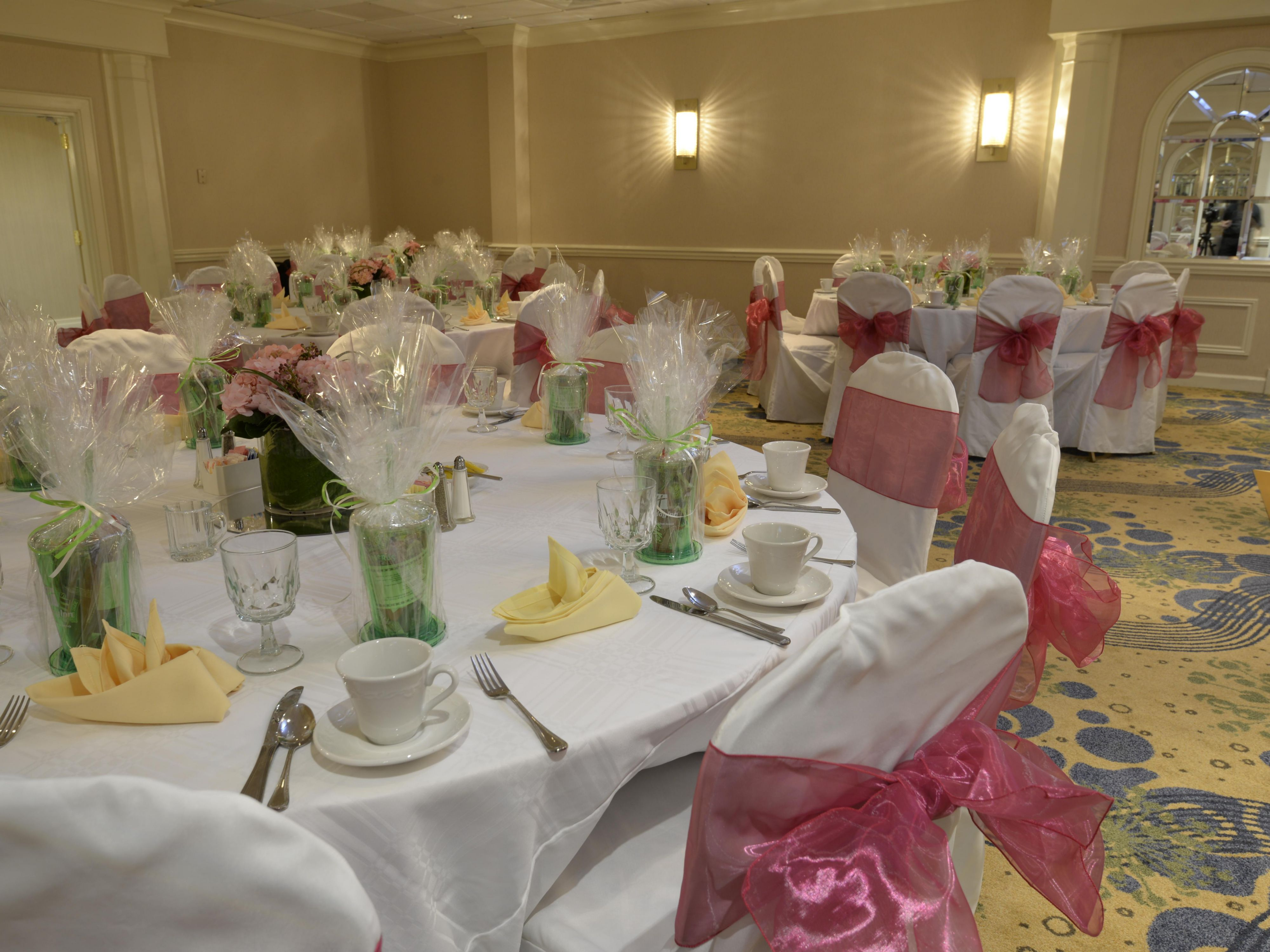 We love to help with parties, weddings, mitzvah's and more!