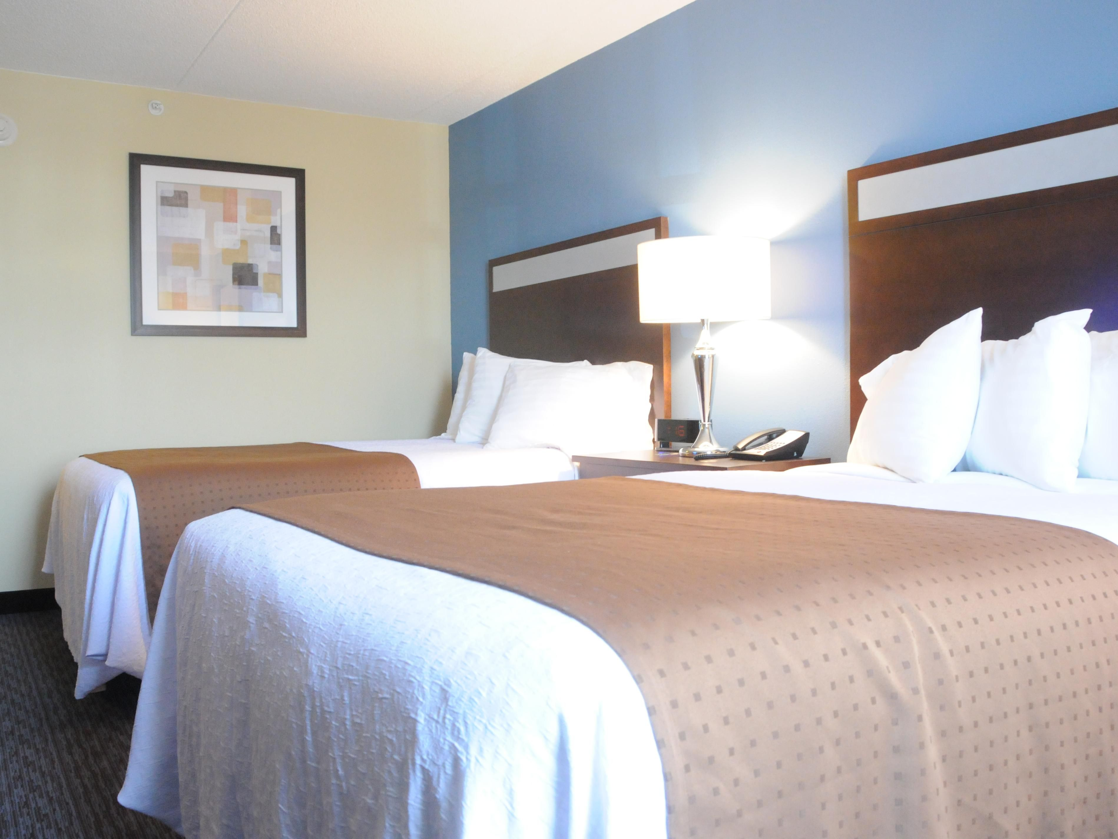 Our rooms with two Double Beds are perfect for families!