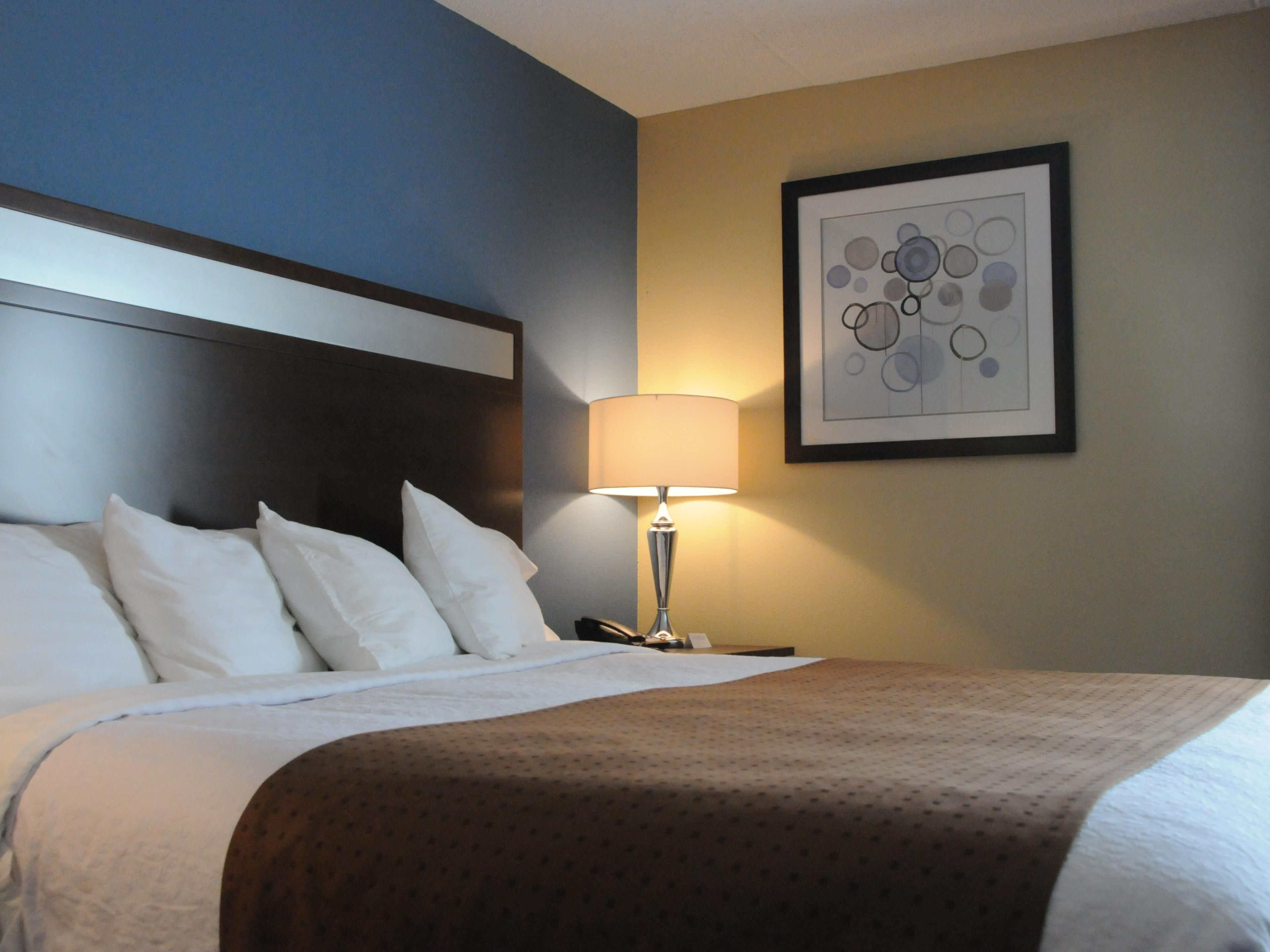 You will get a great night's sleep in our plush King Size beds!