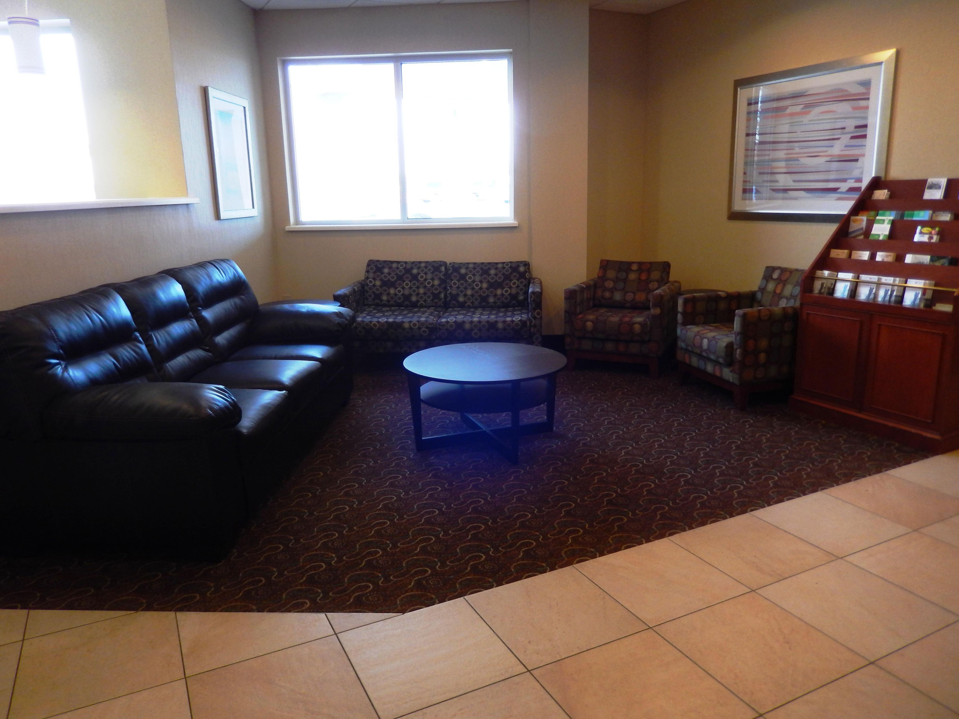 There is ample seating so you can socialize outside of your room