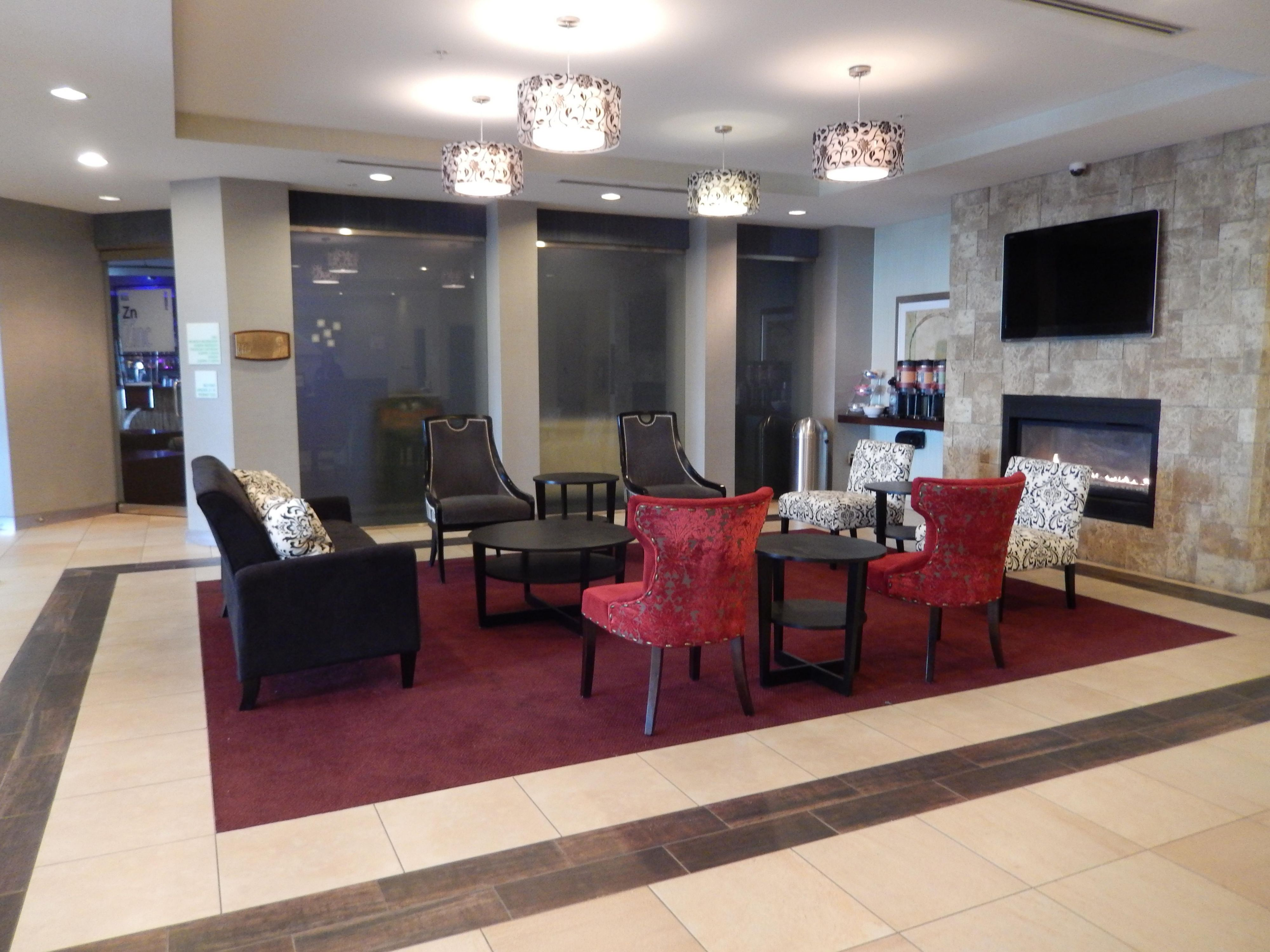 Our recently renovated lobby offers a great place to meet friends!