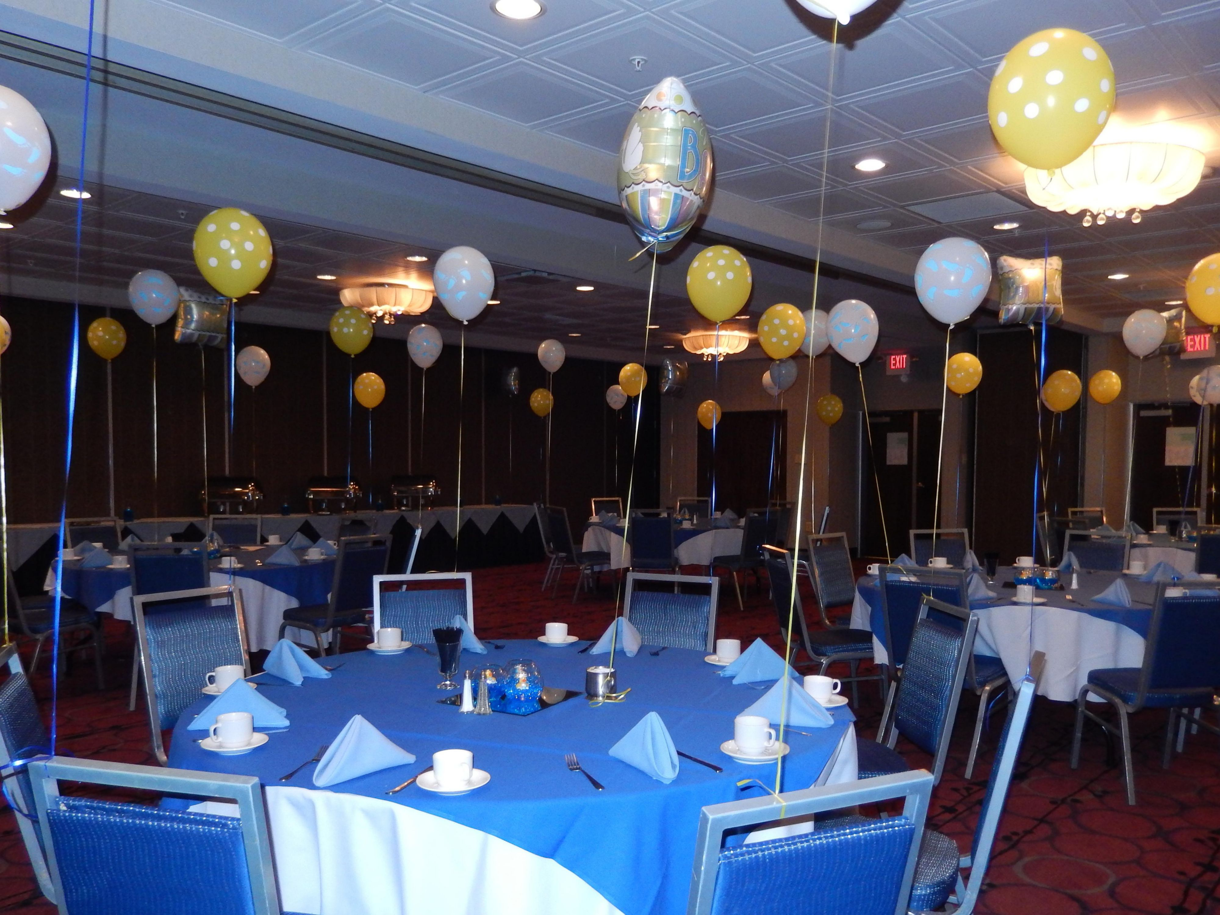 Platinum and Gold Rooms set up for a Baby Shower!
