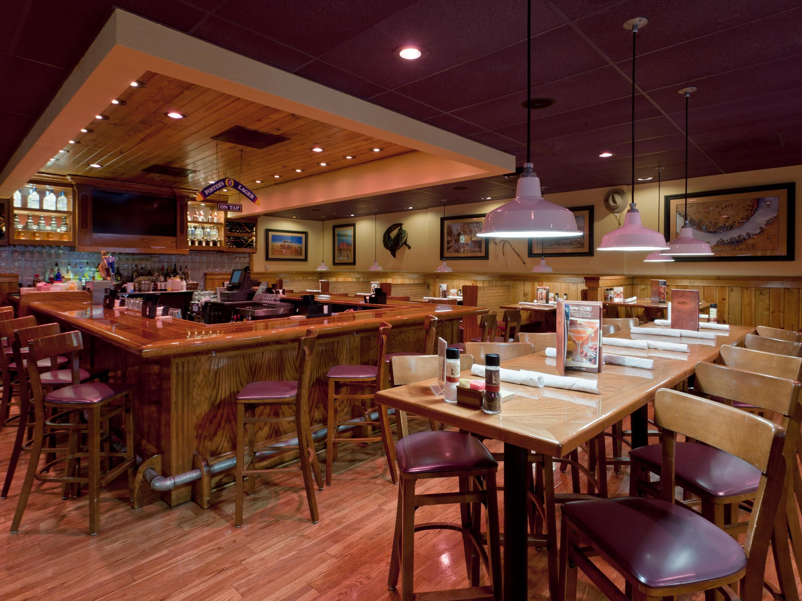 Catch up with friends at Outback's Restaurant and Bar