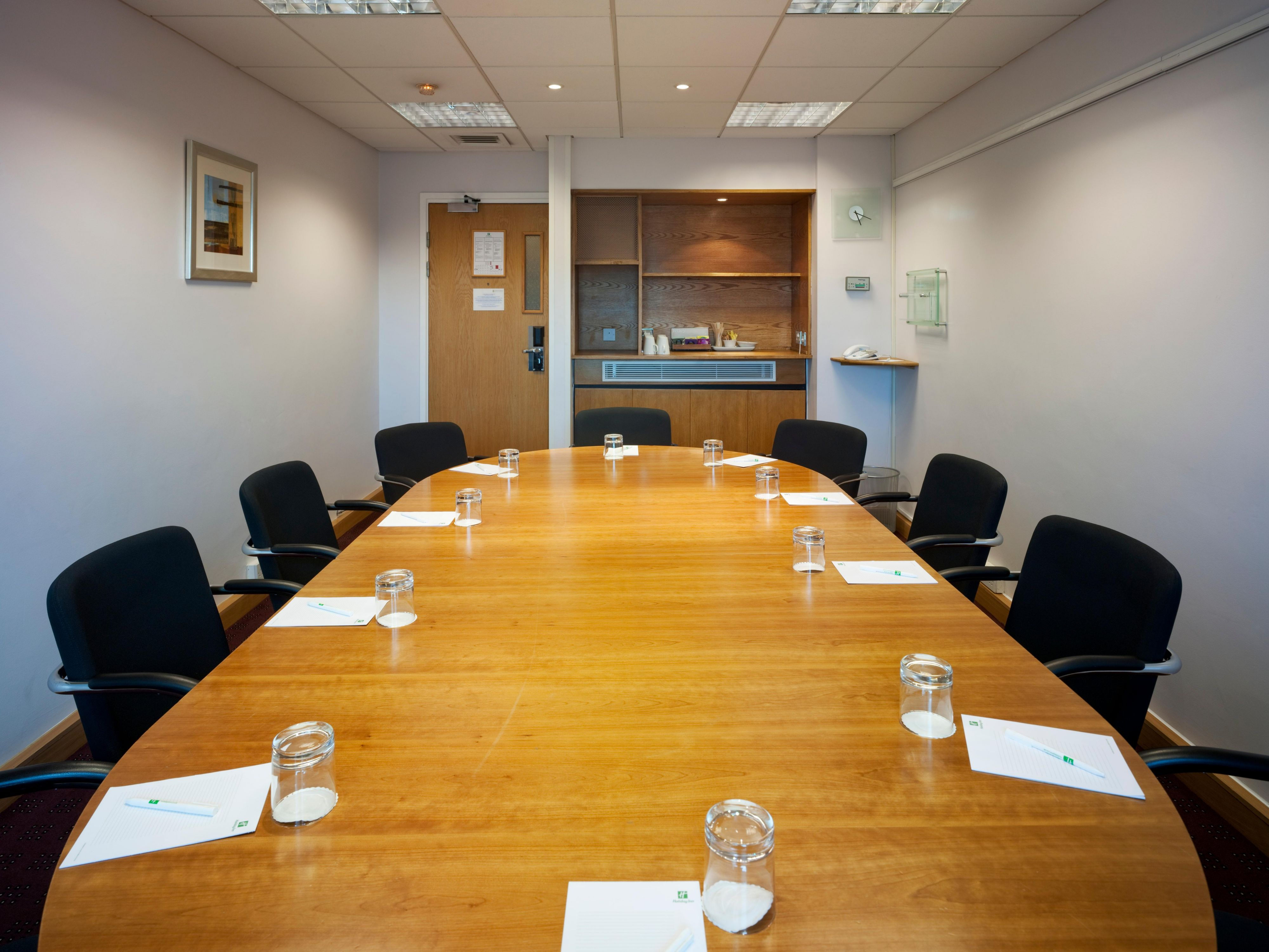 Boardroom ideal for up to 12 people