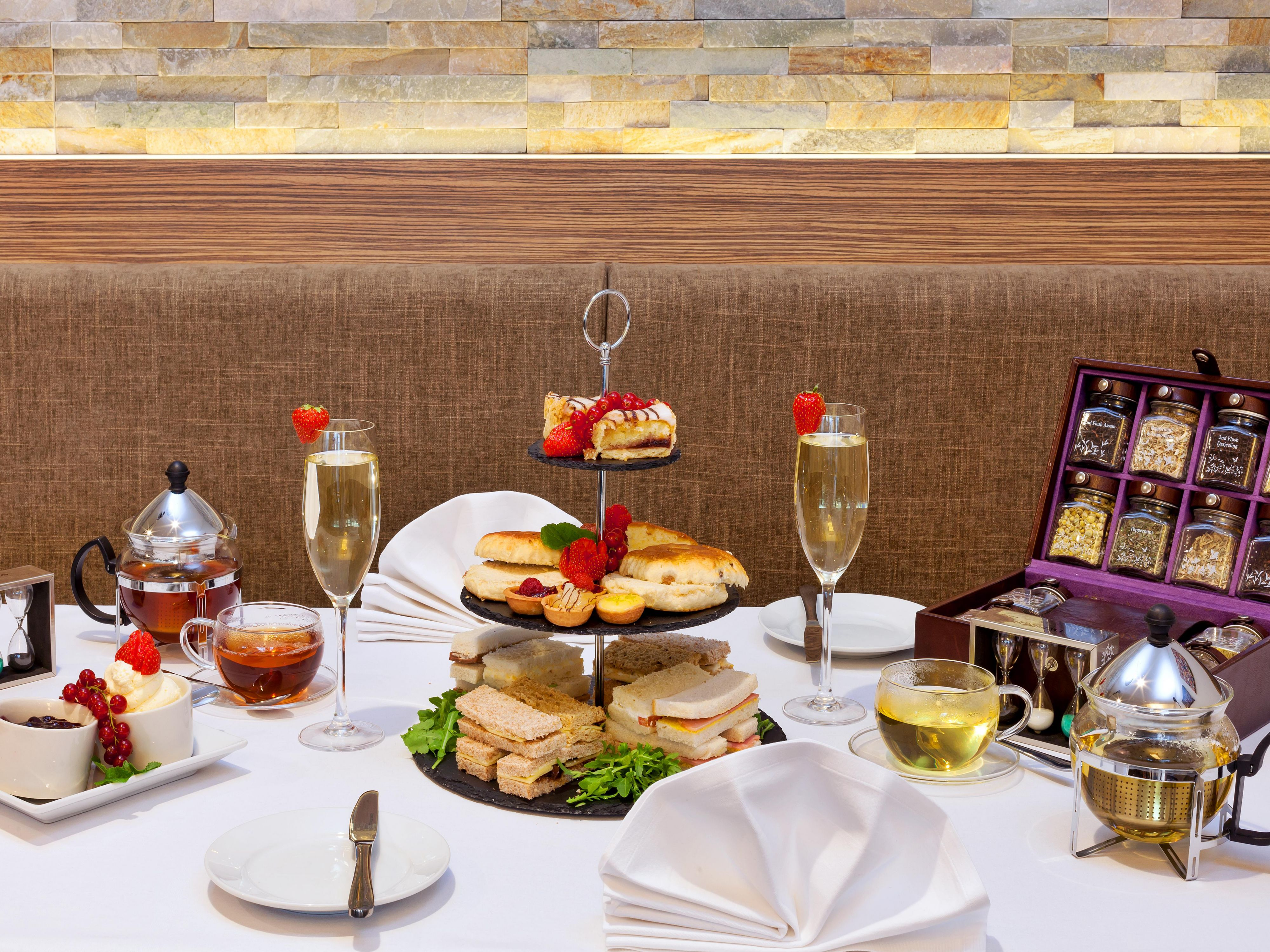 Enjoy an afternoon tea at 2012 restaurant
