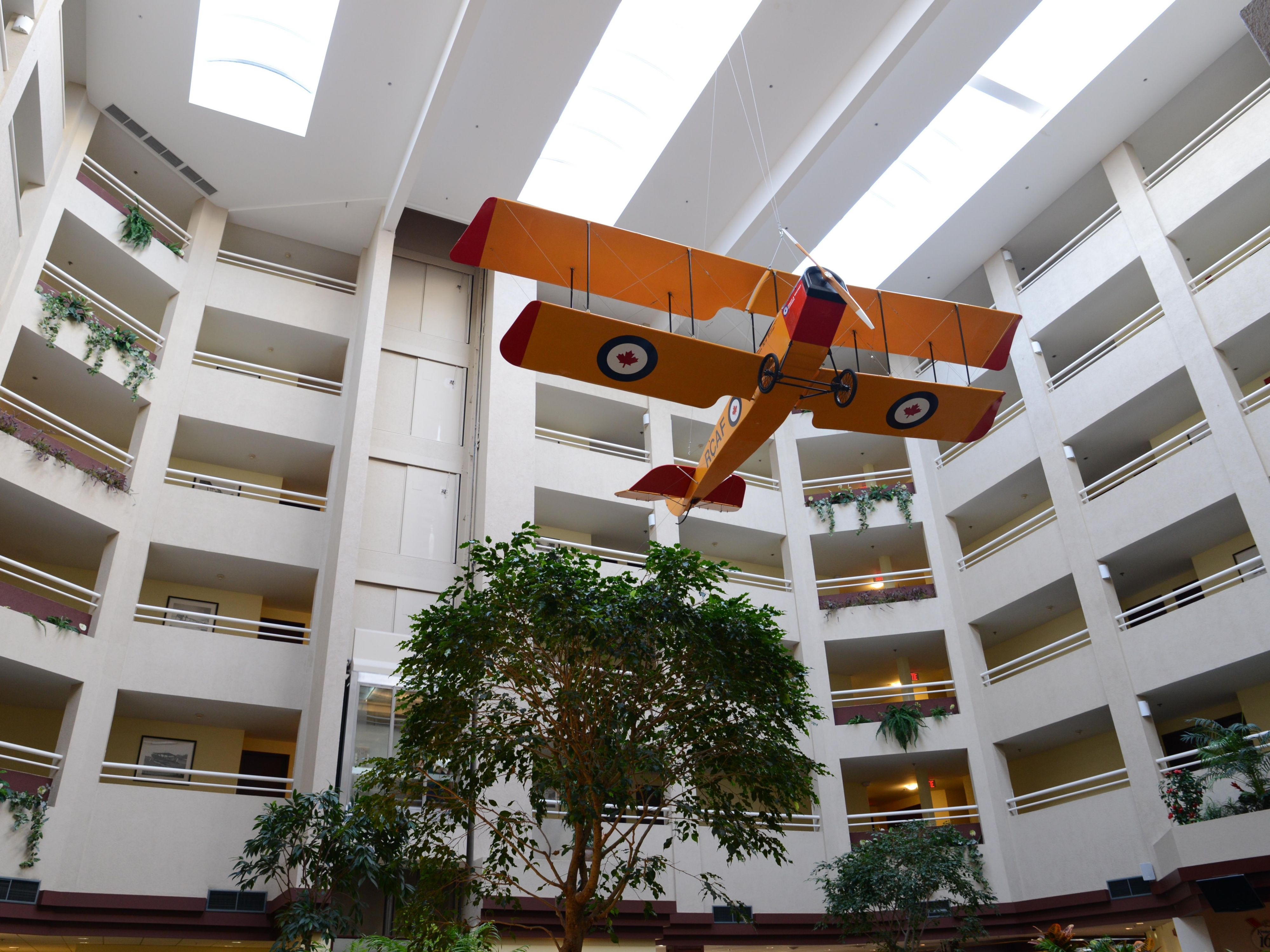 Come and see our spacious Atrium and imagine flying the WWII plane