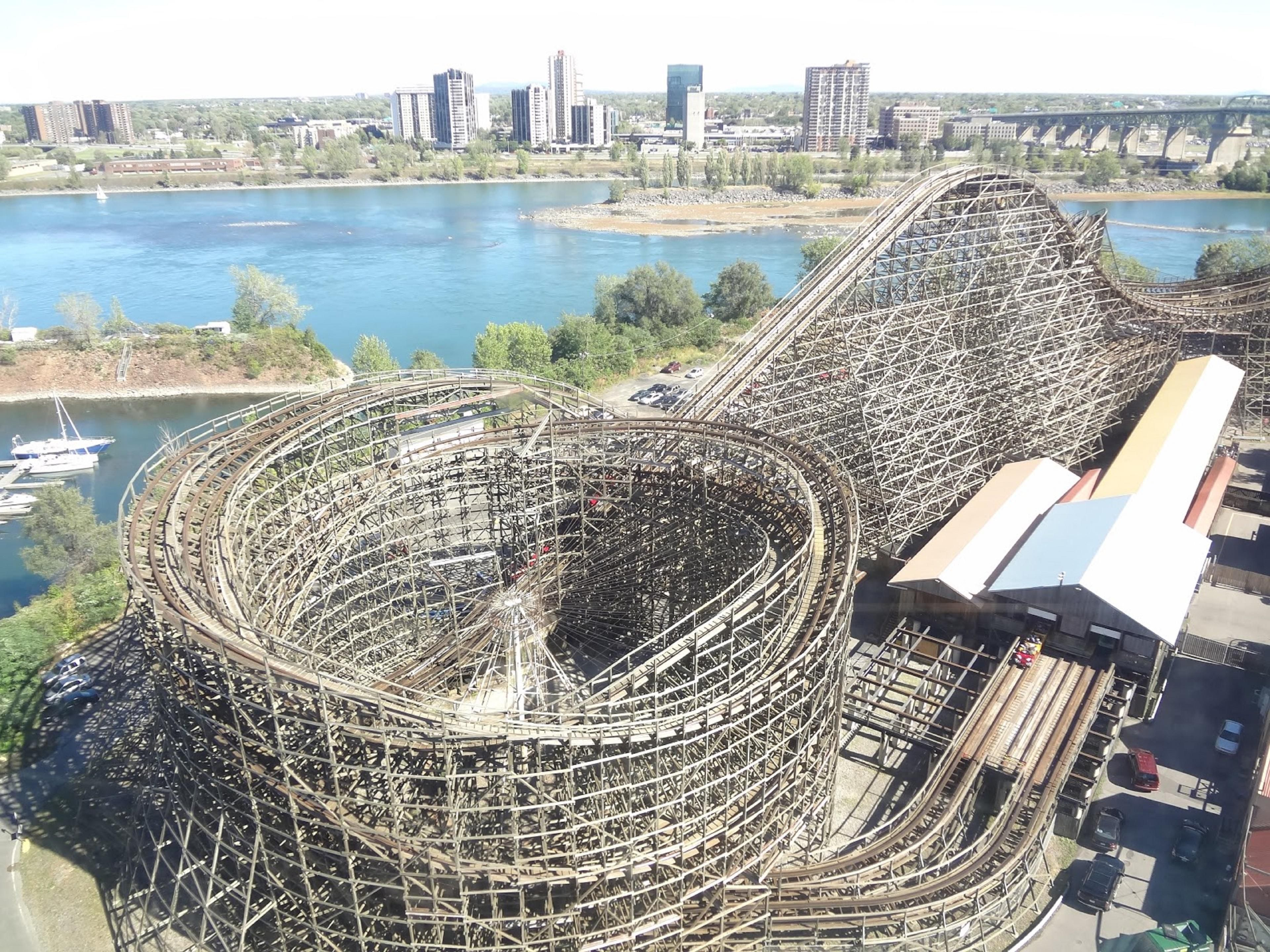 The wooden roller coaster at La Ronde! The Monster