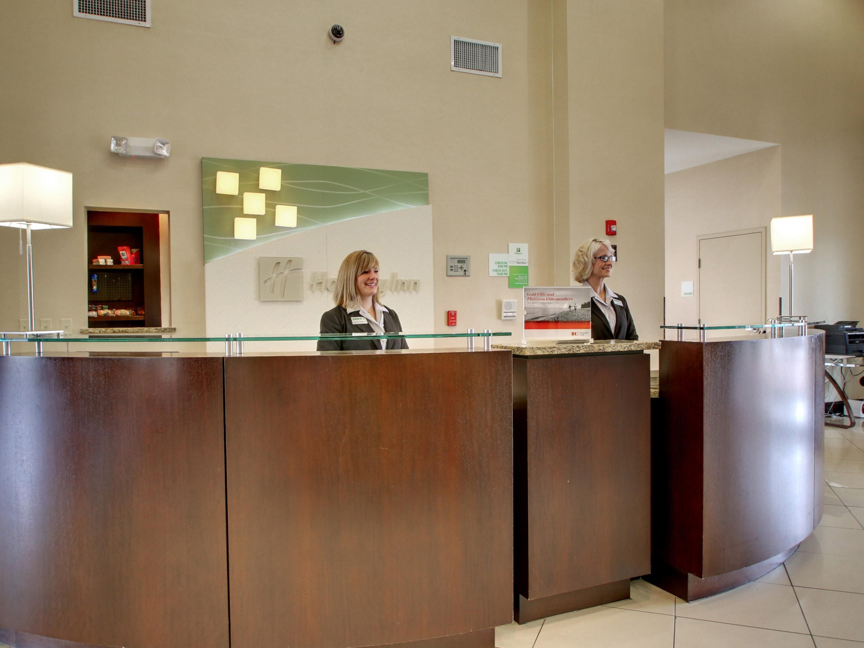 Our Friendly Front Desk Staff Eagerly Awaits your Arrival
