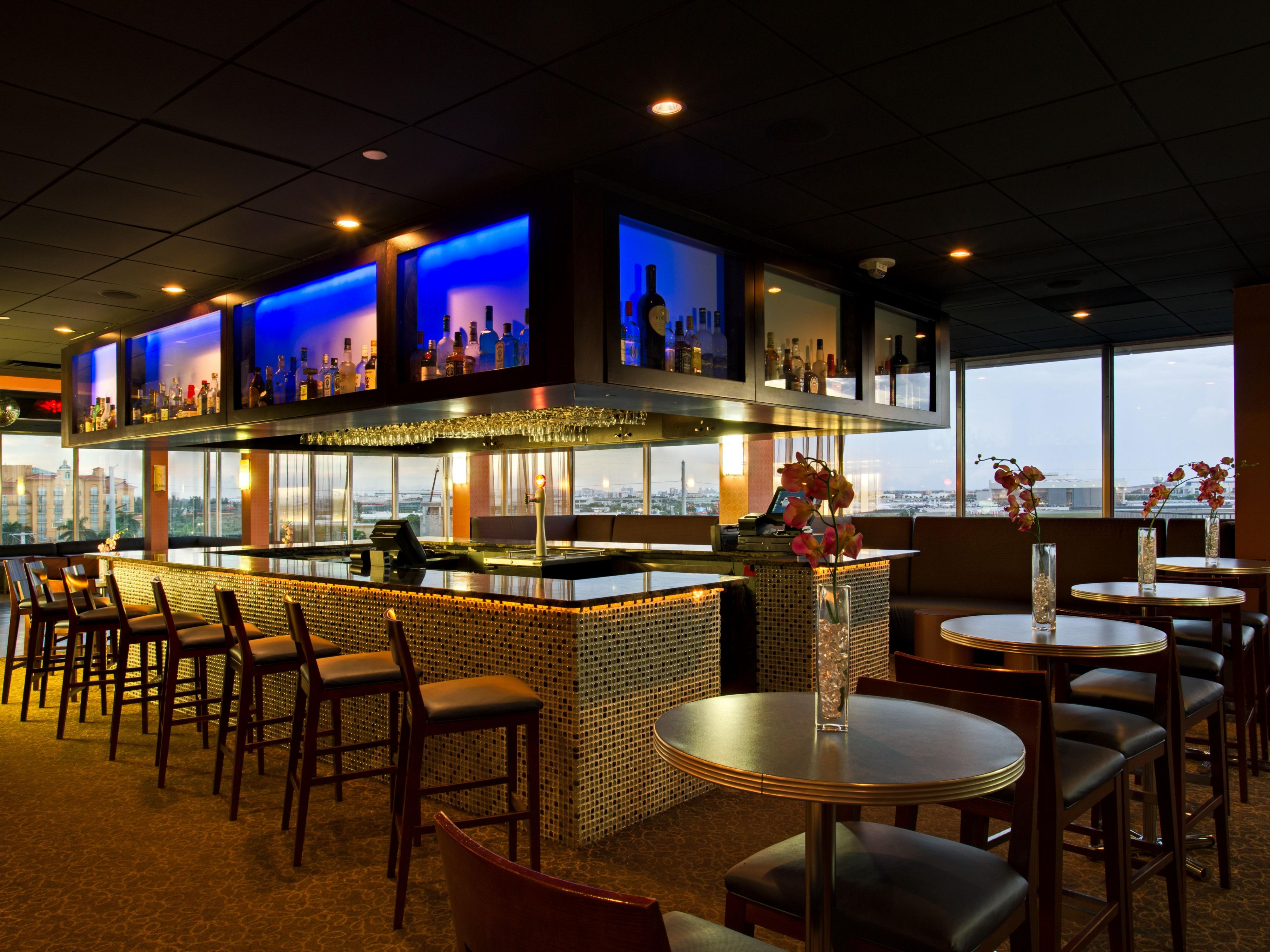 Enjoy our specialty drinks with panoramic views of Miami Skyline!