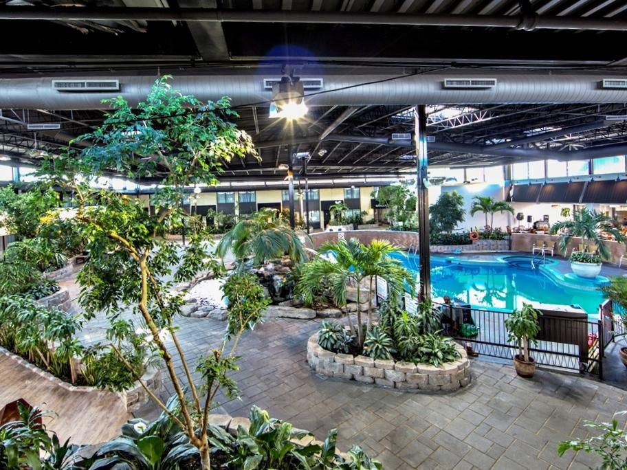 Relax in our Atrium by the Indoor Pool