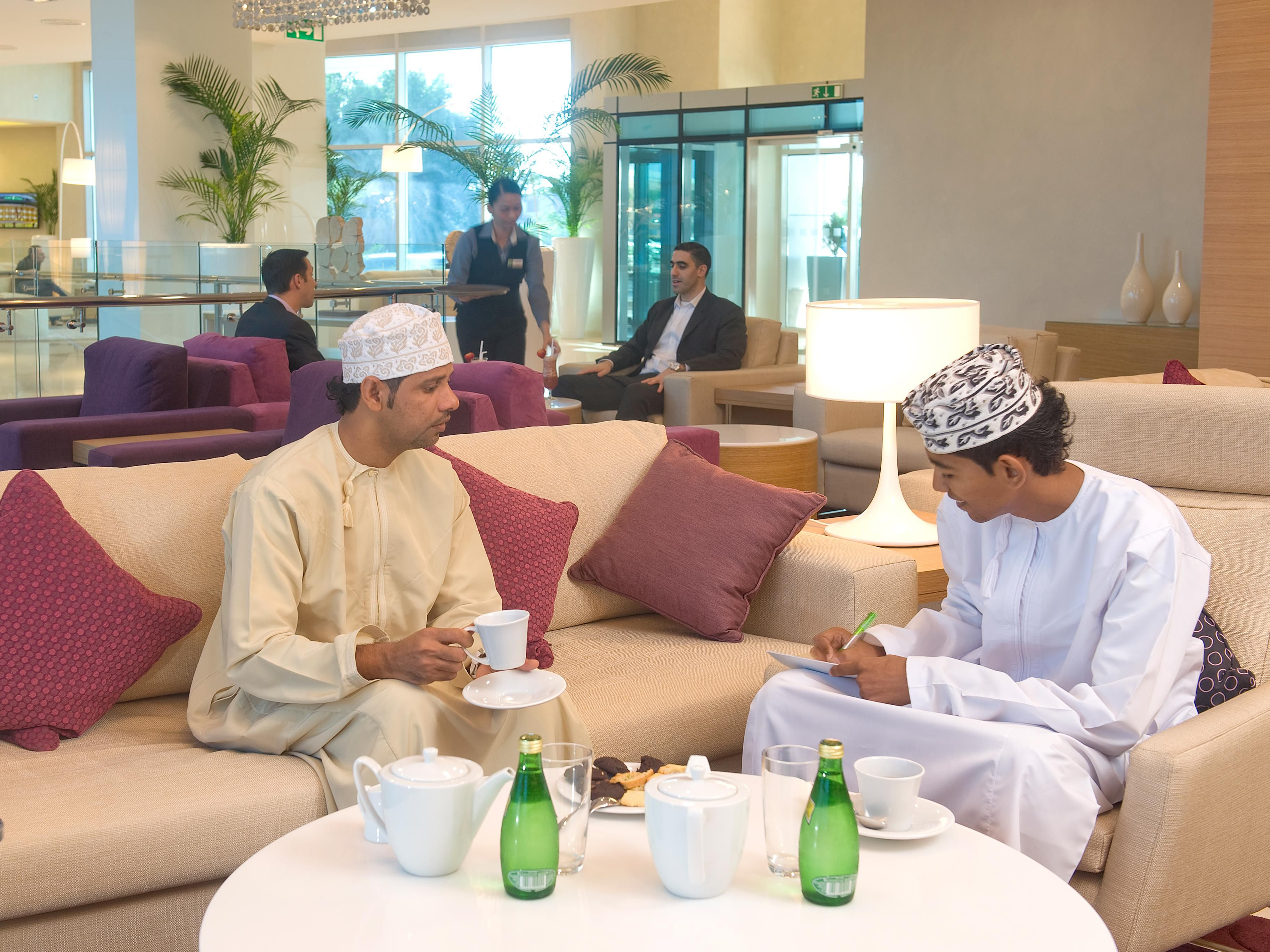 Enjoy Arabic Coffee and Omani Sweets at our Halwa Lobby Lounge