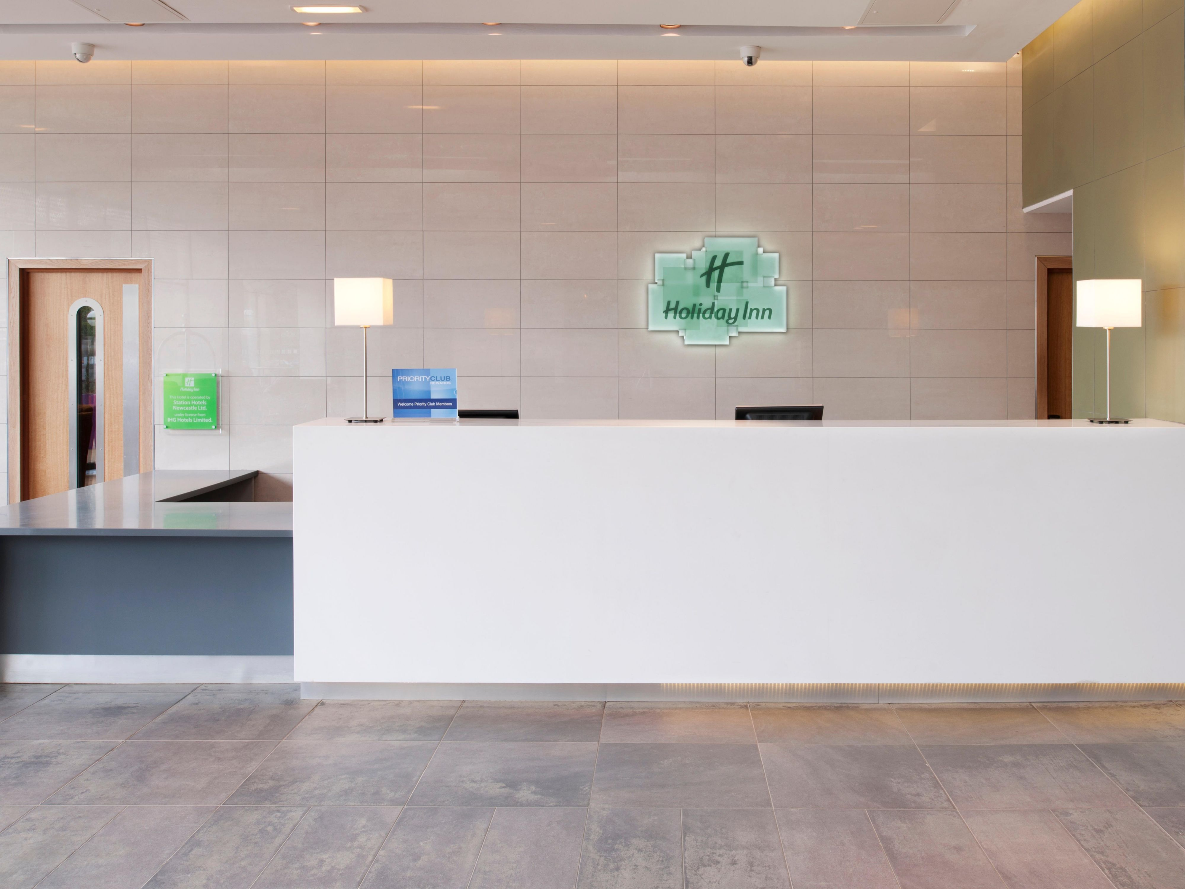 Front Desk at the Holiday Inn Newcastle Jesmond