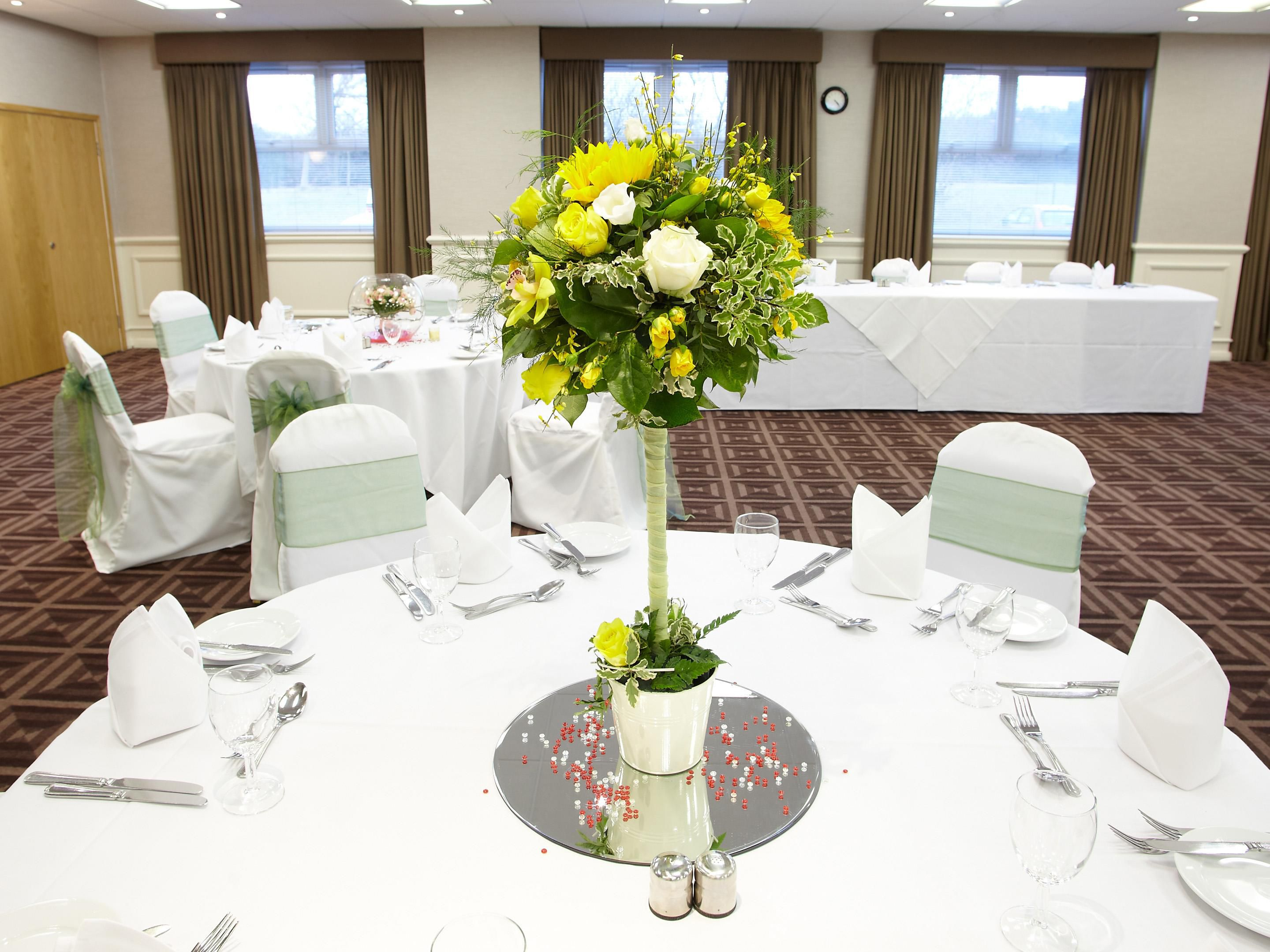 Ridley Suite set for a wedding reception