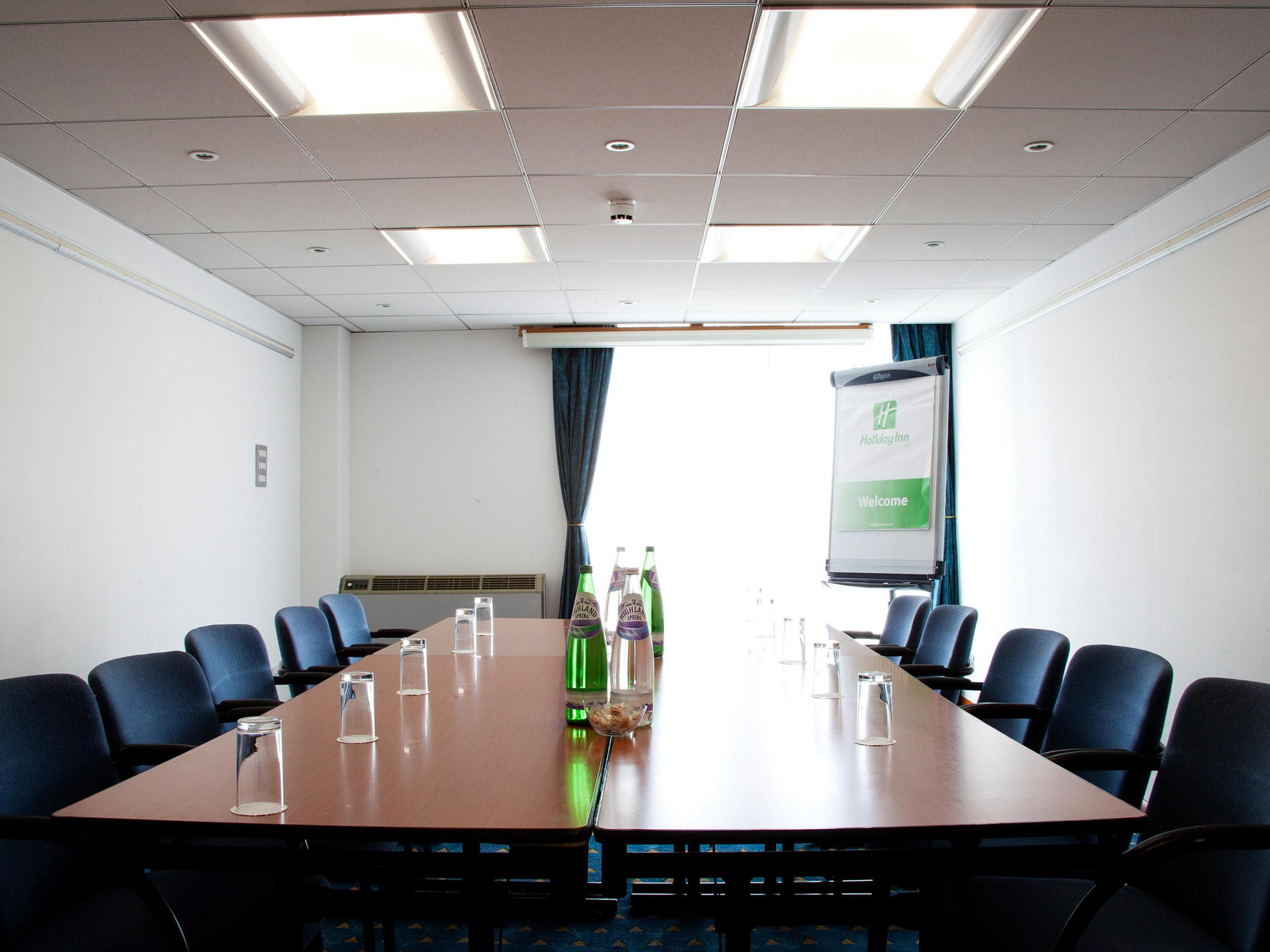 Swan Suite set boardroom style