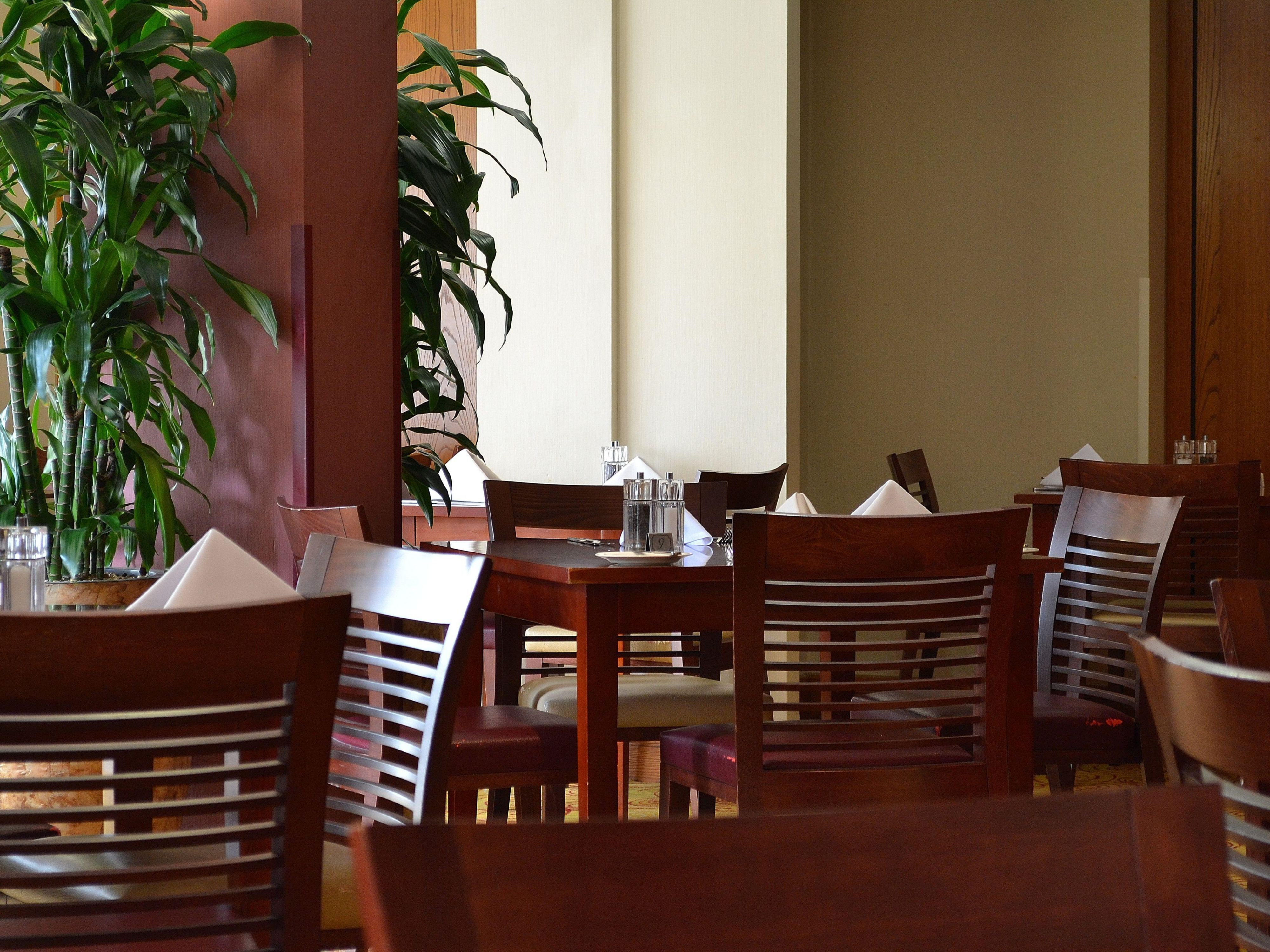 Plenty of choices where to sit and enjoy your nights dining.