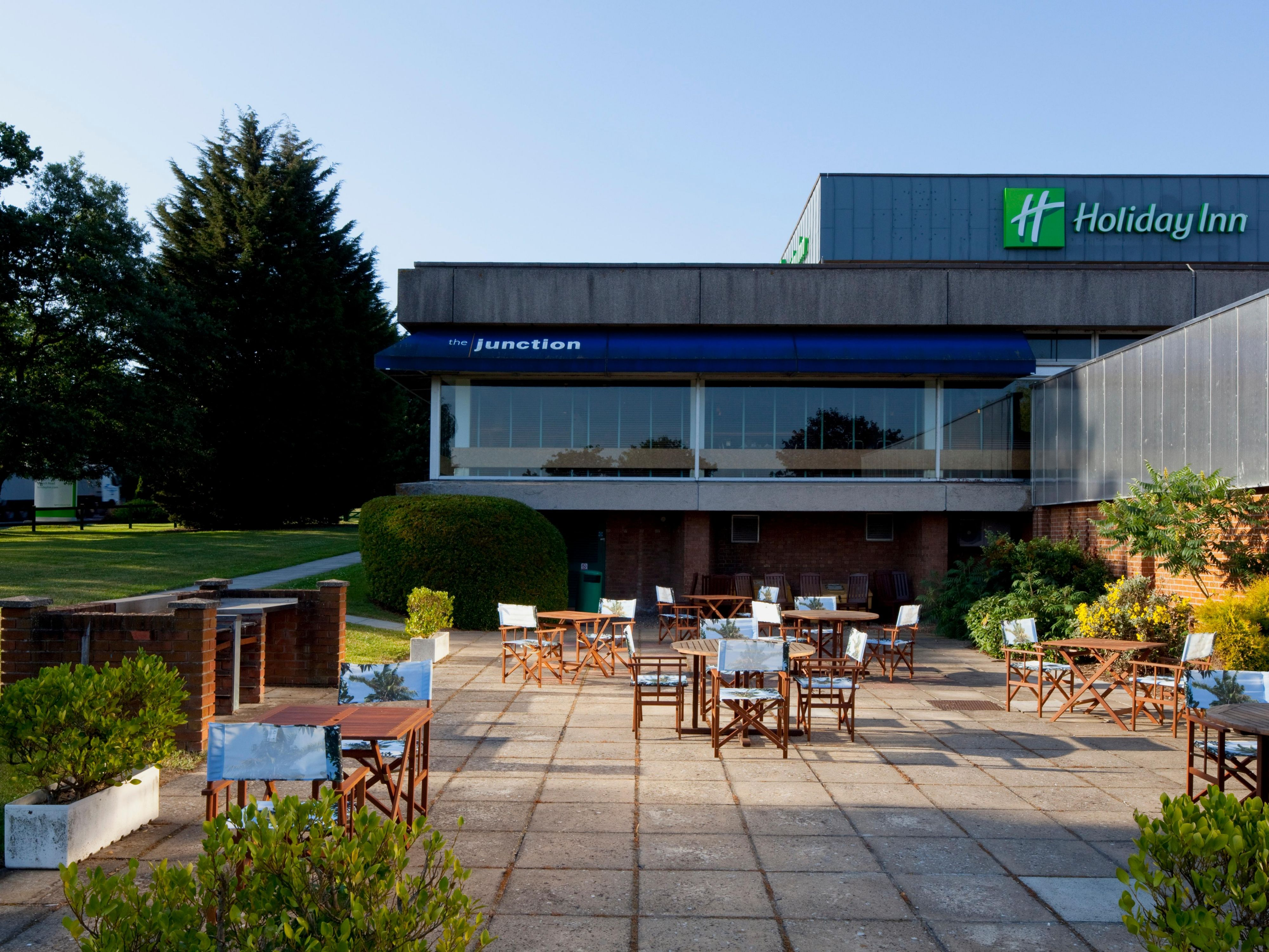 Enjoy a drink on the terrace at Holiday Inn Norwich