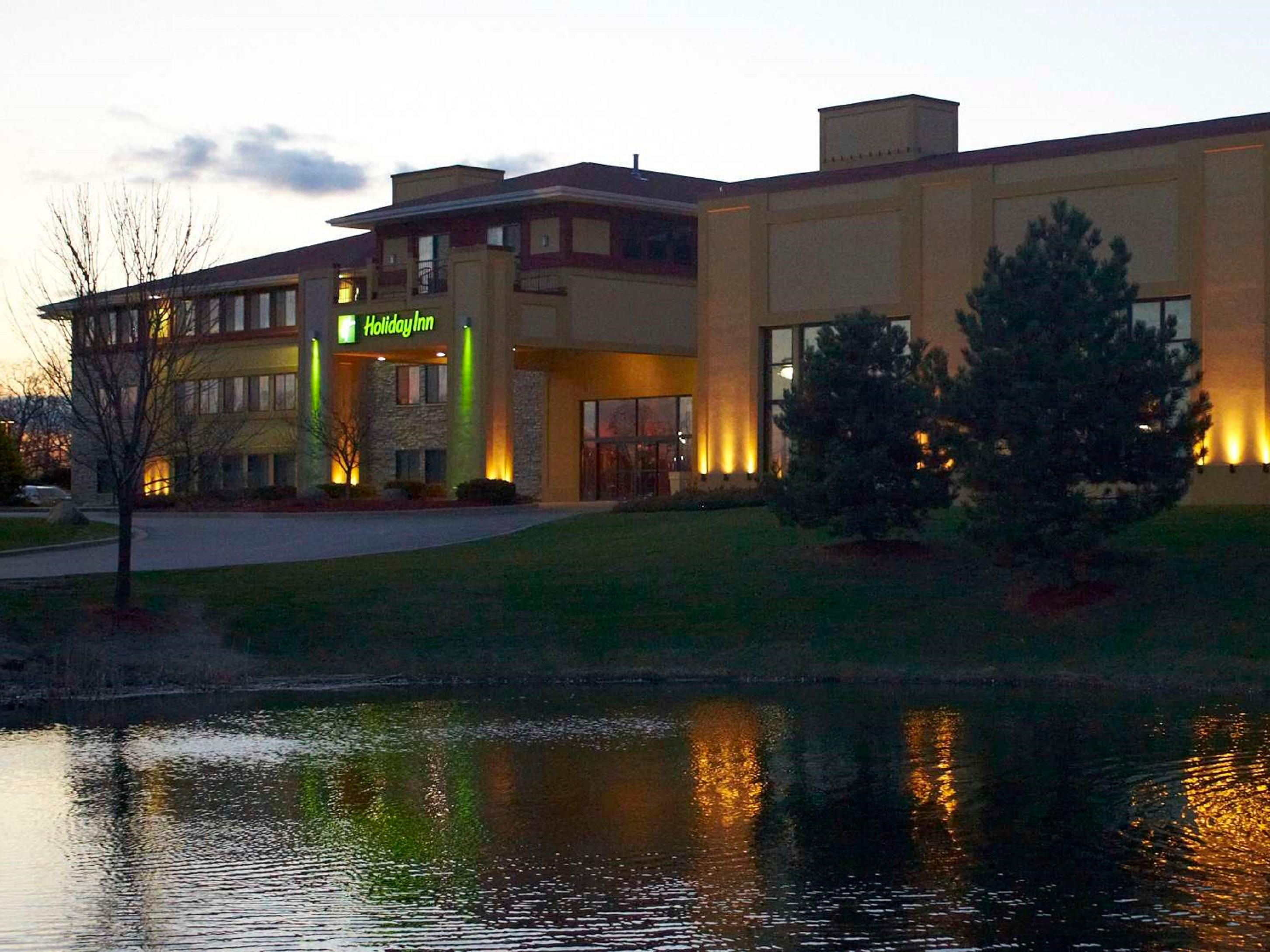 A view from across the pond at the Holiday Inn Pewaukee