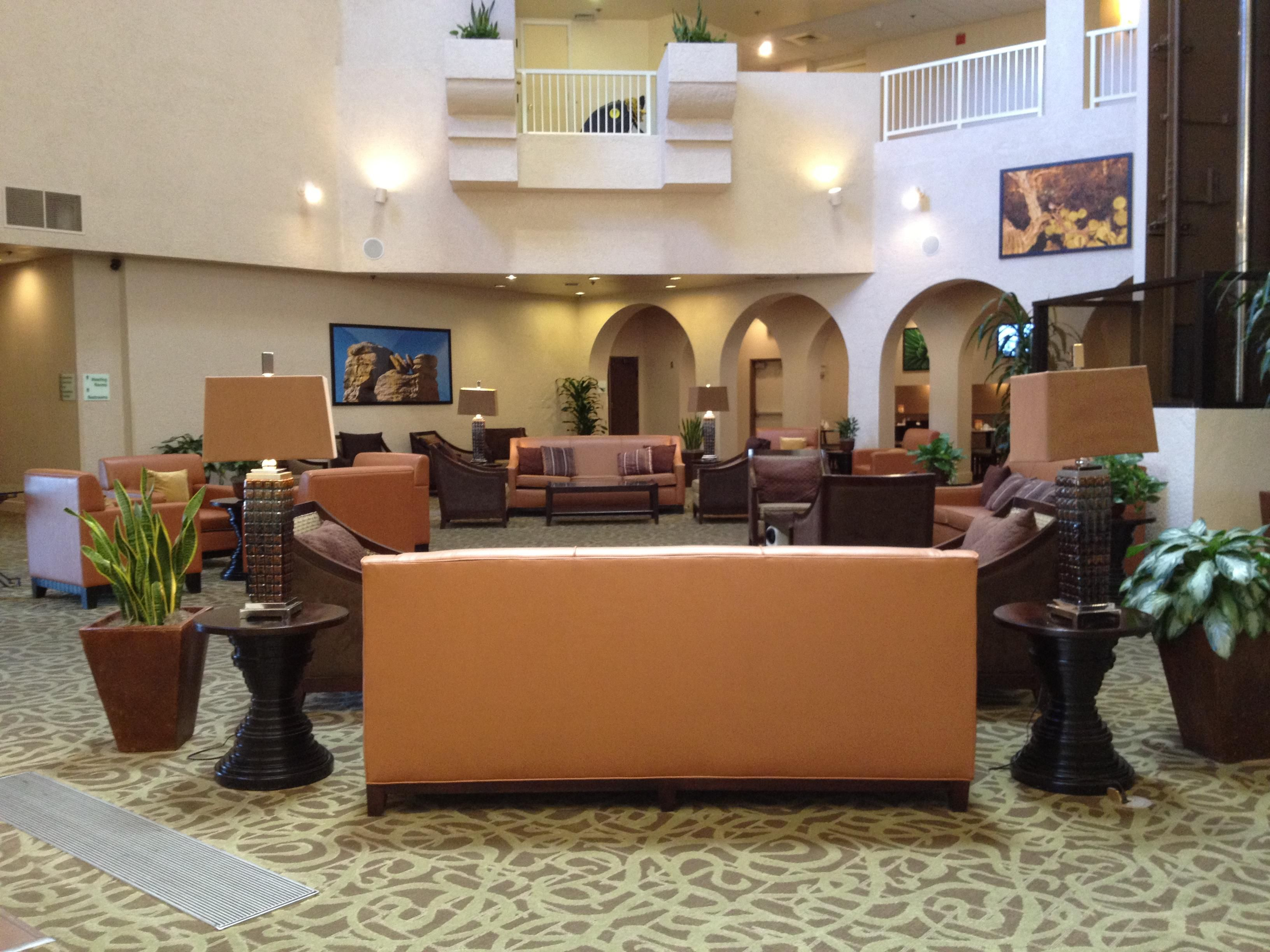 Enjoy our spacious greet and meet lobby area