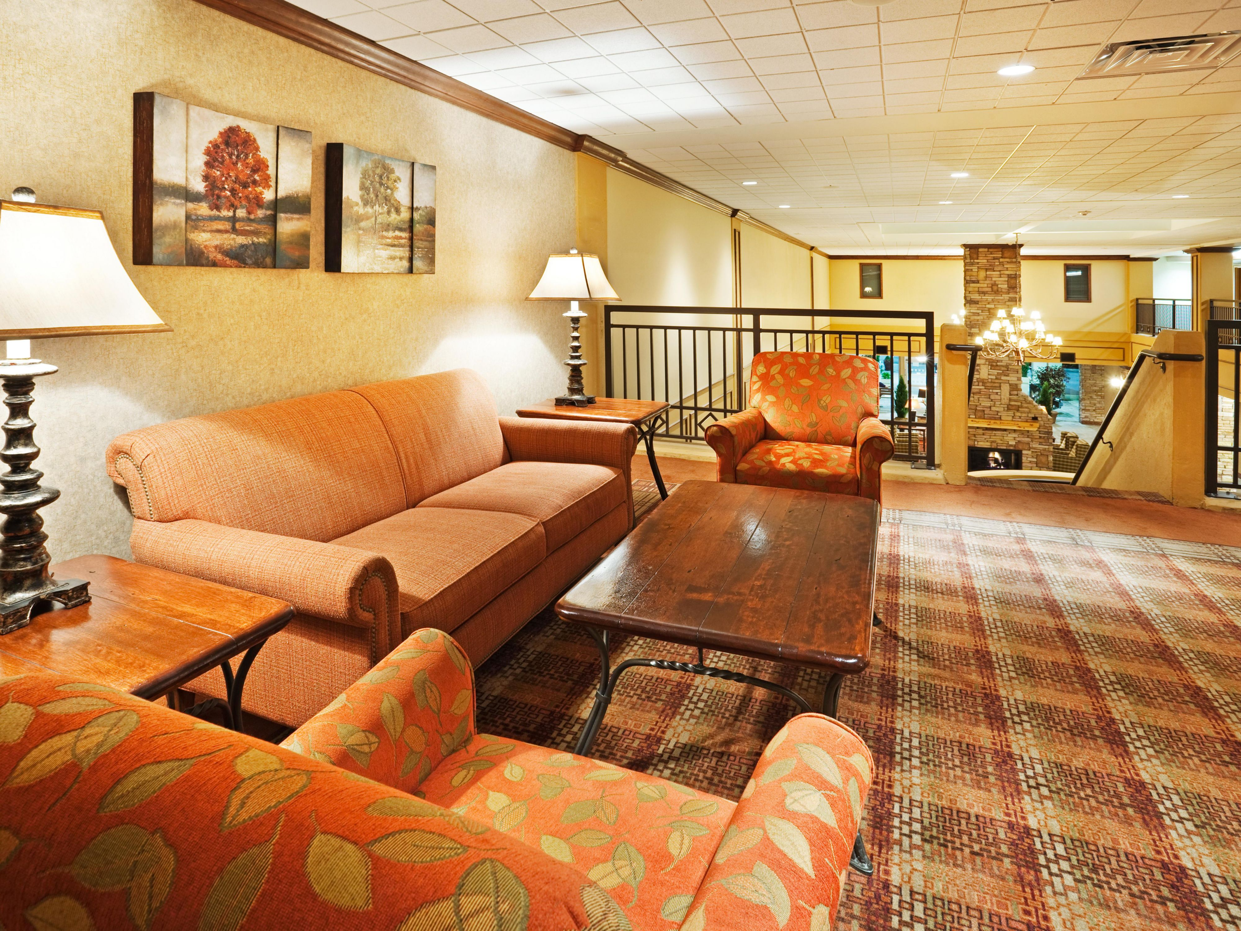 Relax or visit with friends in one of many common areas