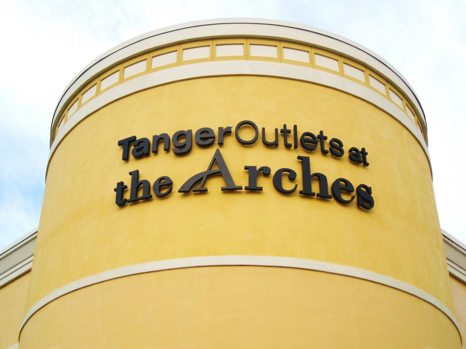 Tanger Outlets @ the Arches, just a short 20 minute drive