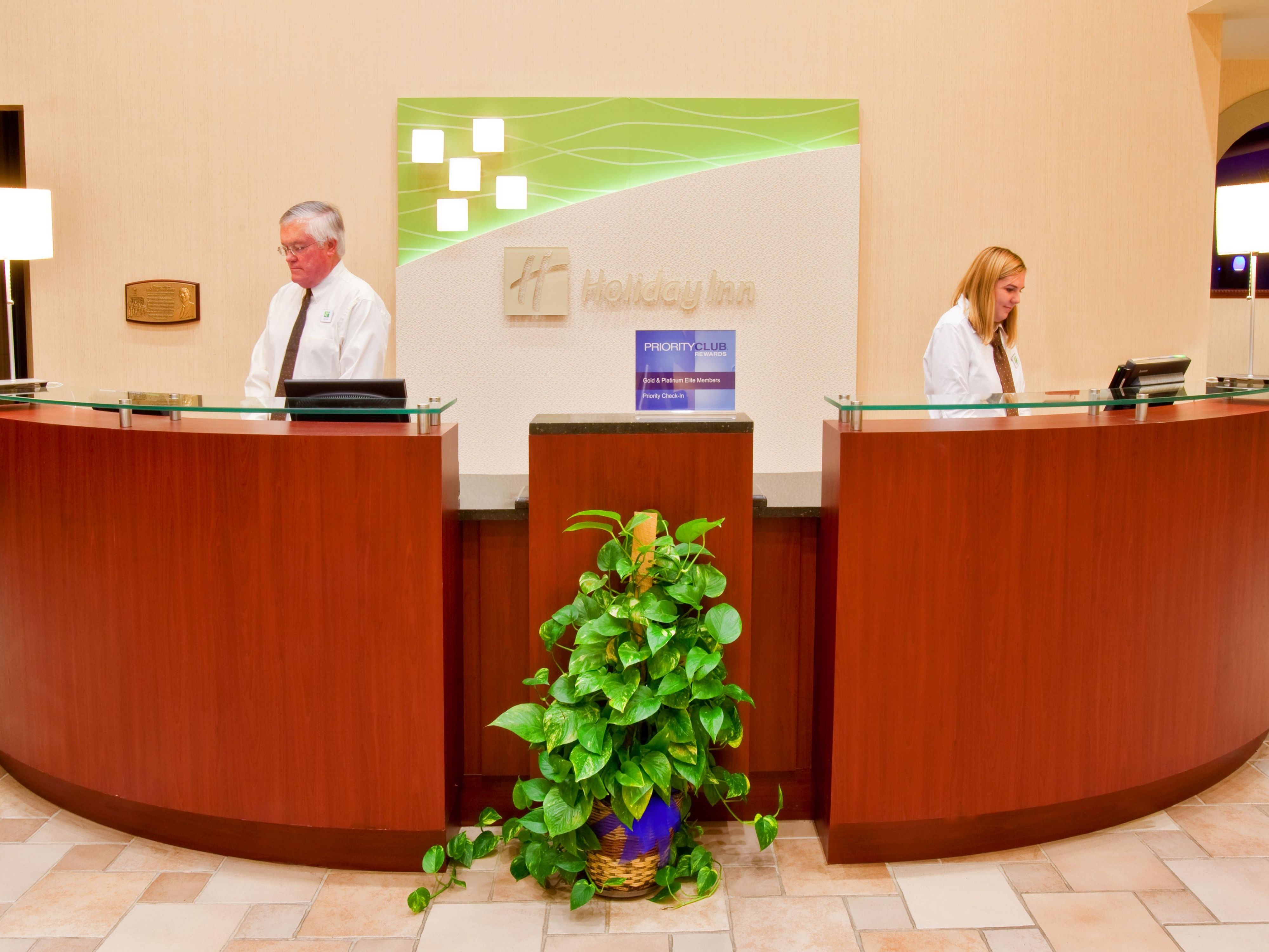 Our helpful front desk staff to assist you.