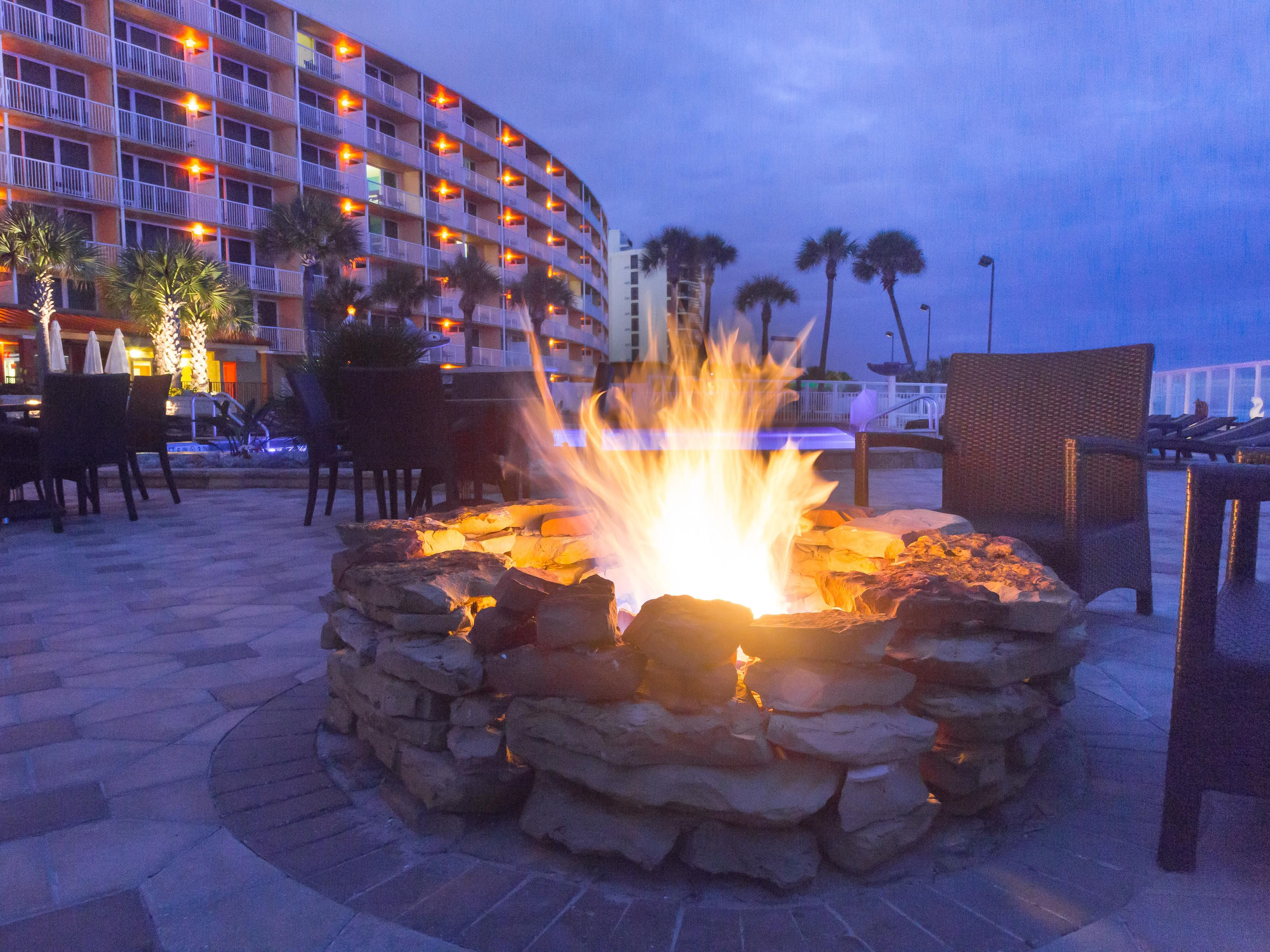 Unwind by our two oceanfront fire pits