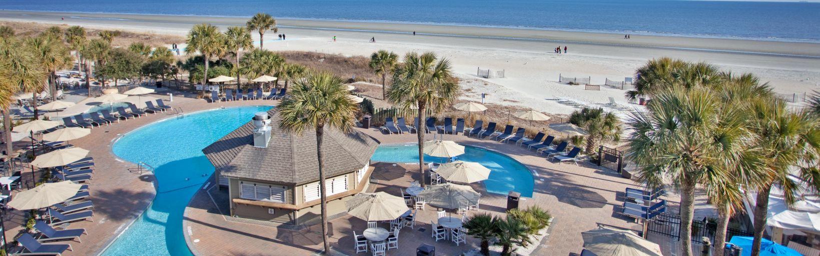 hilton head resorts - holiday inn resort beach house hotel