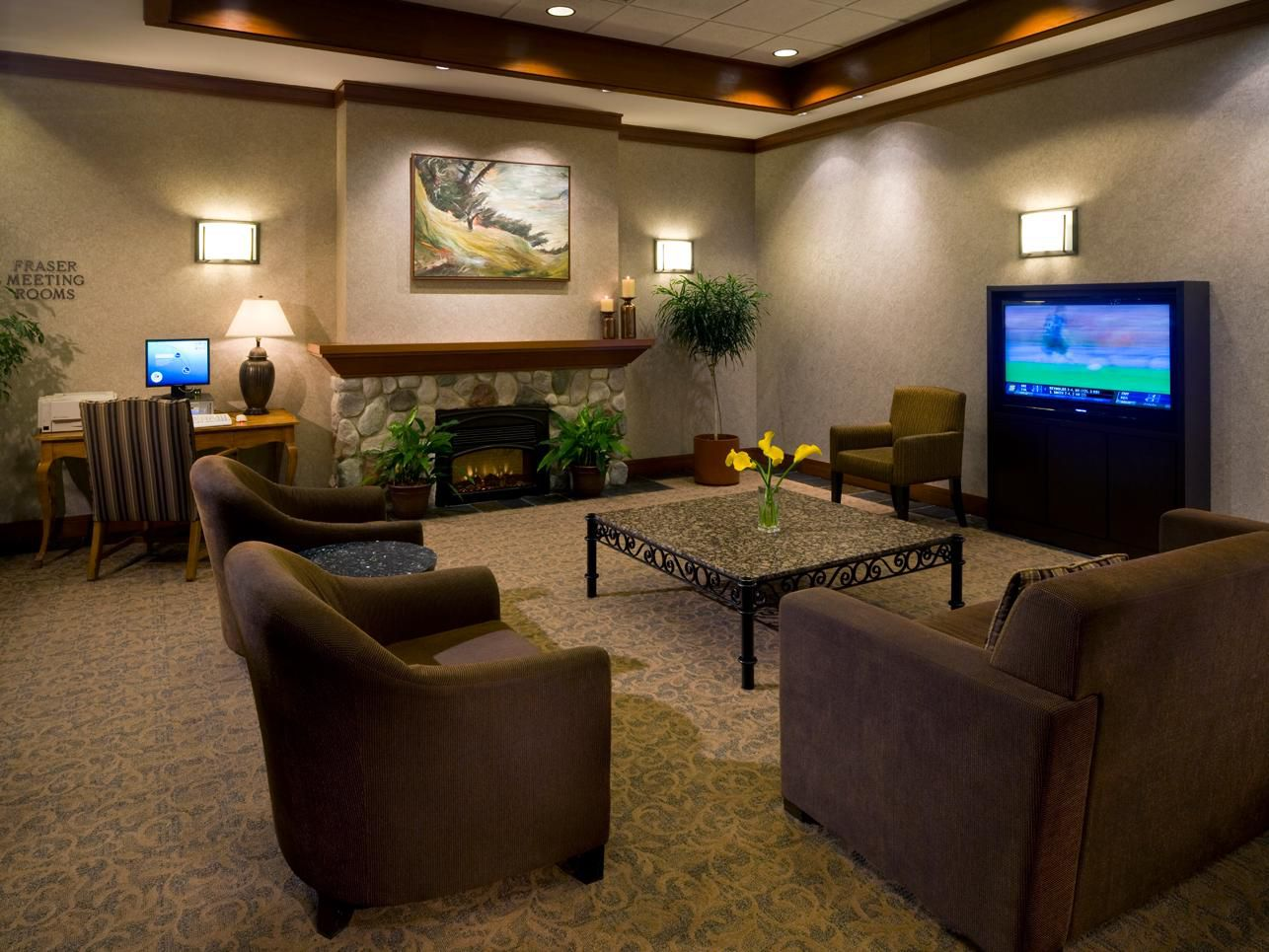 Relax In Our Lobby While Waiting For Family & Friends.