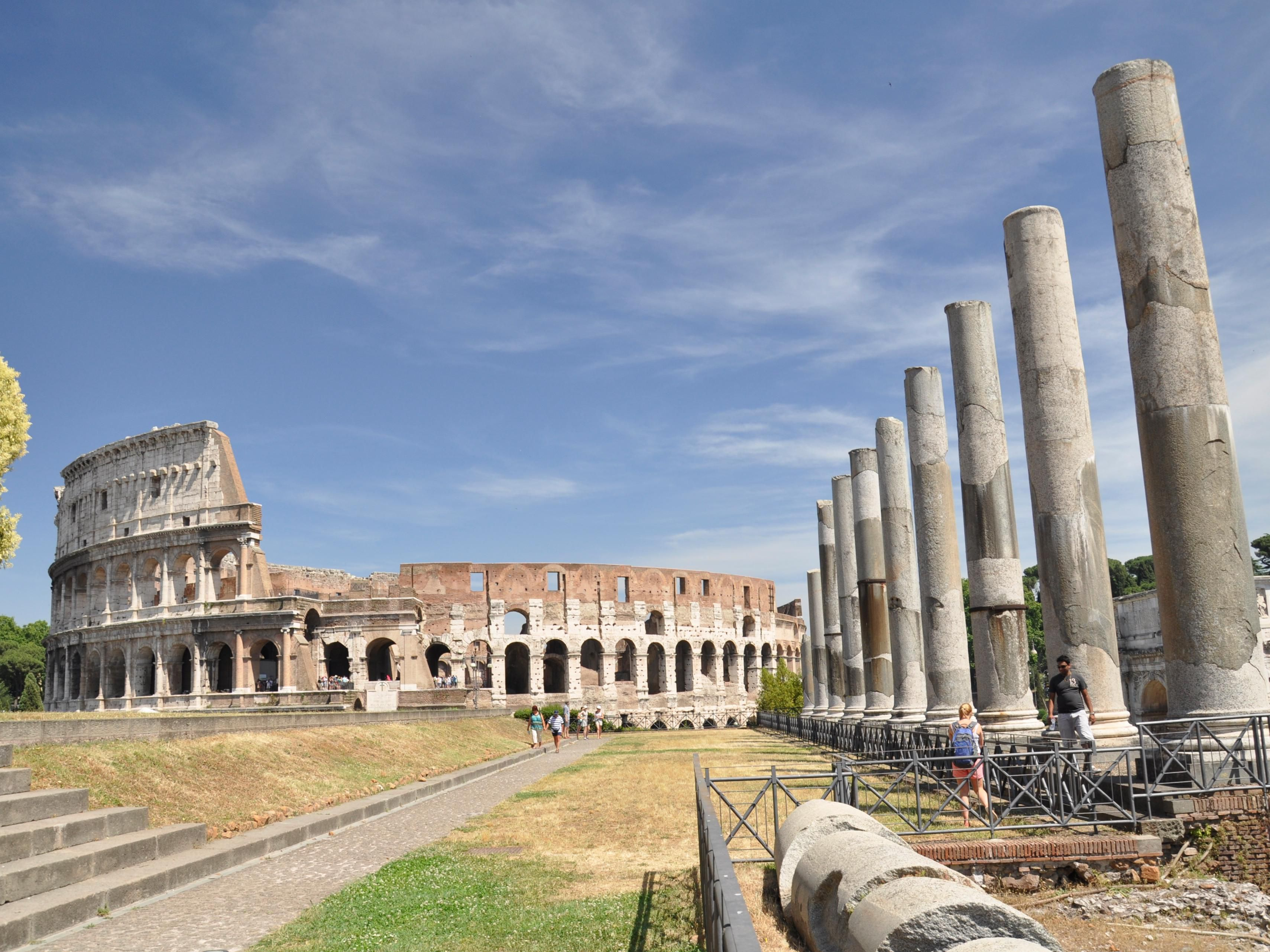 The Colosseum and the Roman Forum