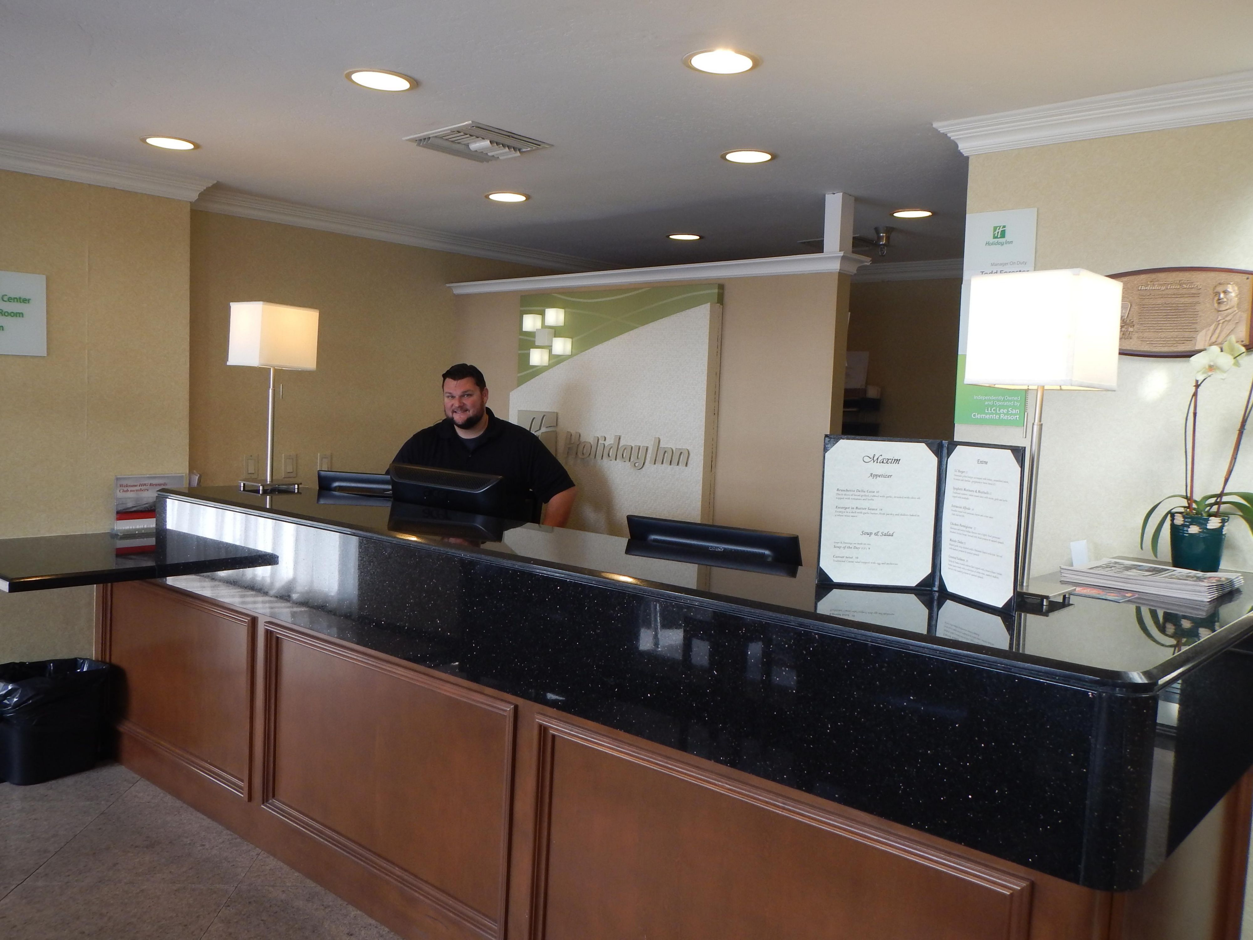 Front Desk in San Clemente Hotel