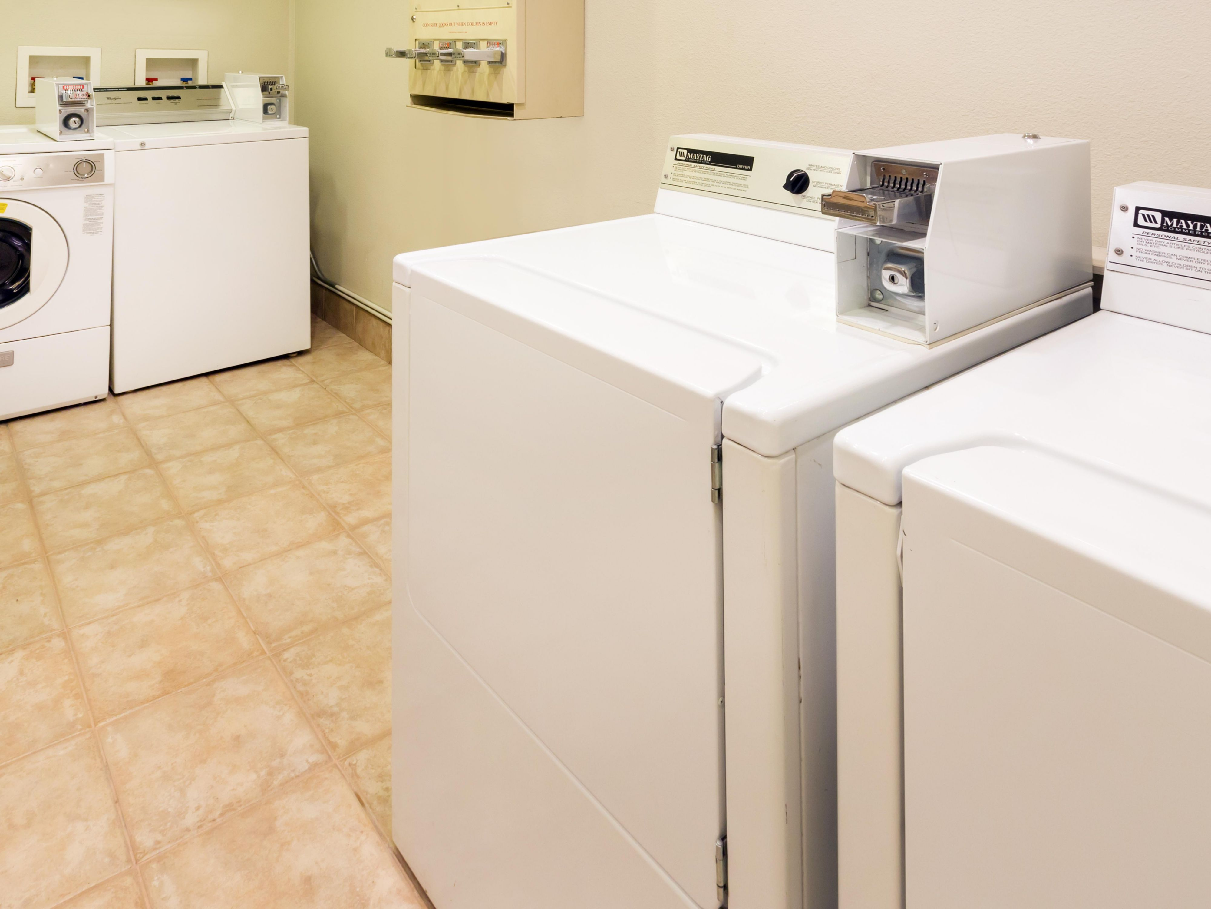 Convenient hotel guest laundry at Holiday Inn OC Airport