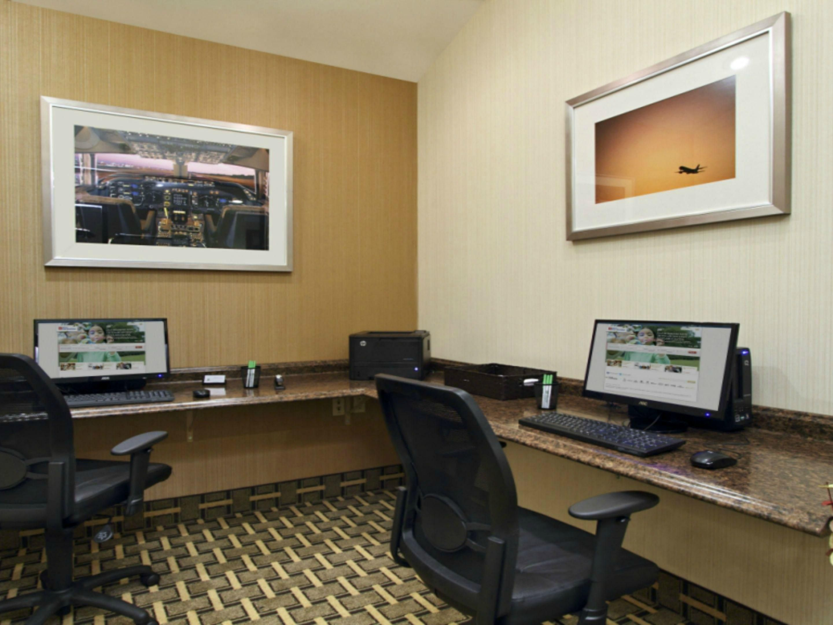 Convenient guest business center at our Santa Ana hotel