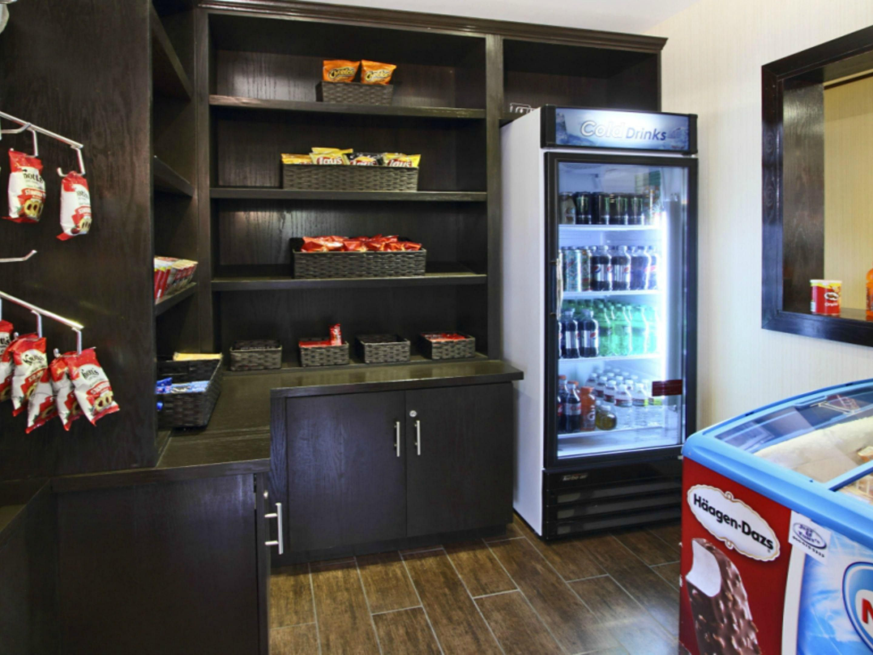 Convenient snack shop for guests of our Santa Ana hotel