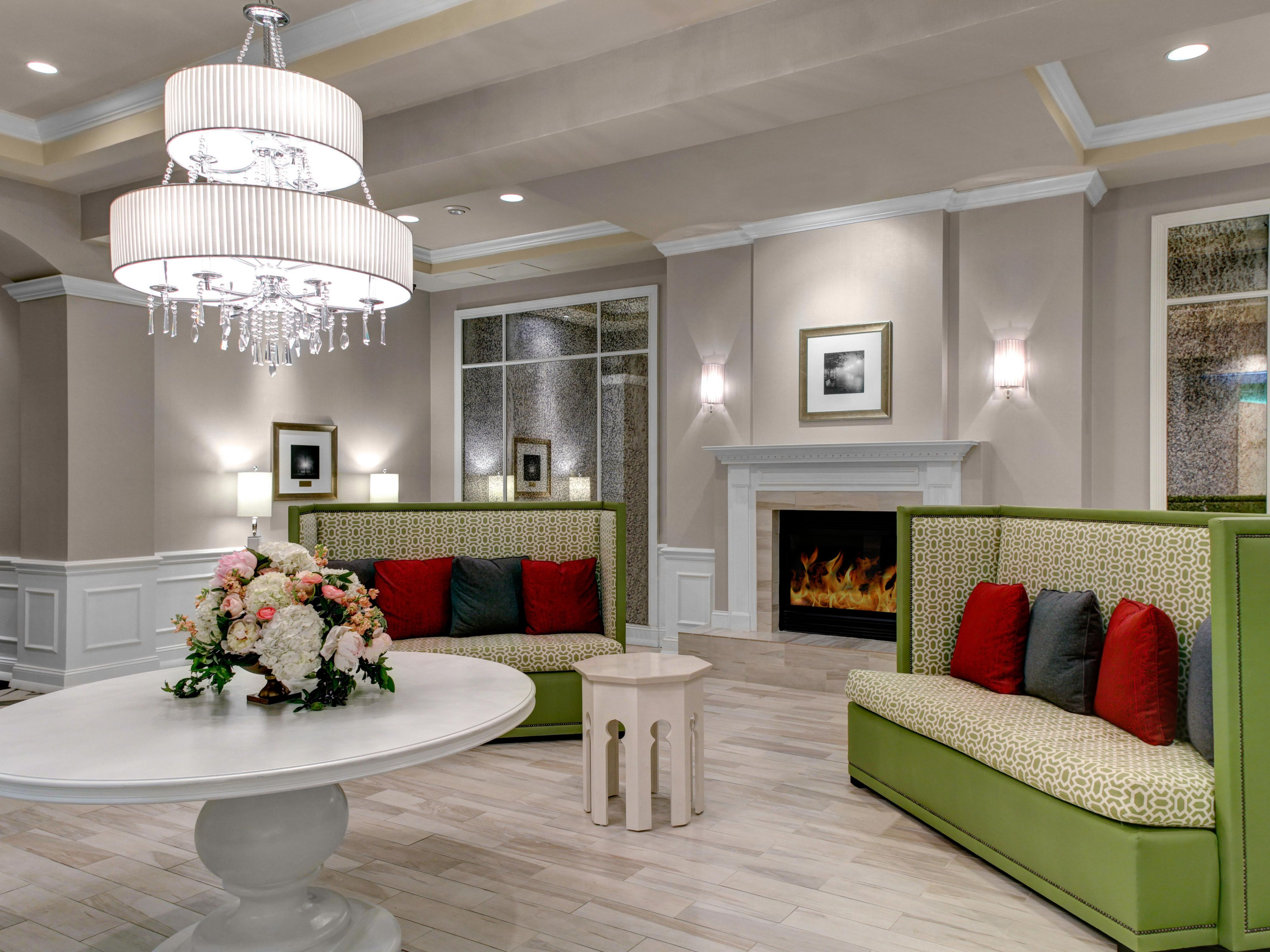 Our luxurious and stylish lobby