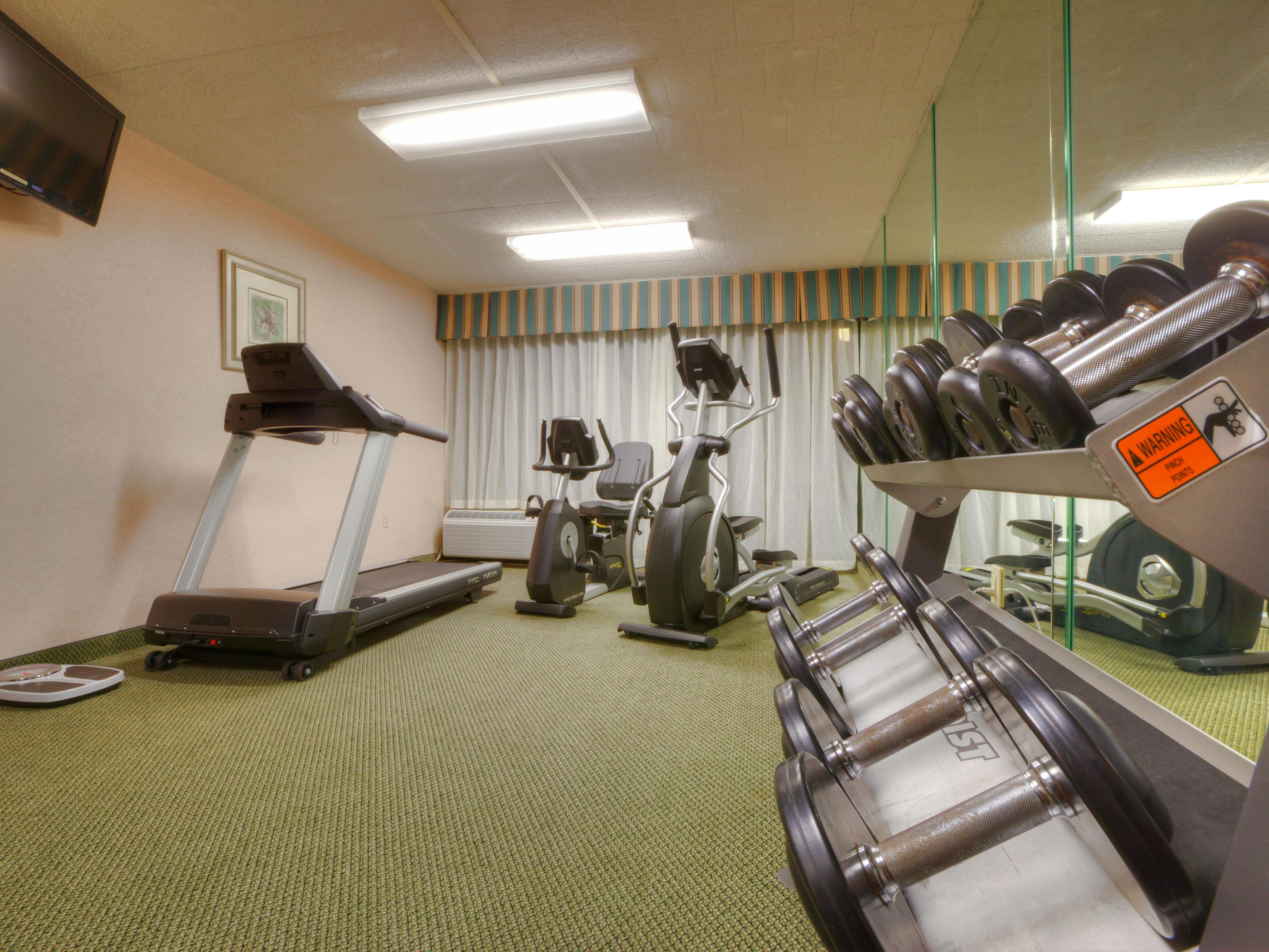 one of our Fitness centers, YMCA next door is as available.