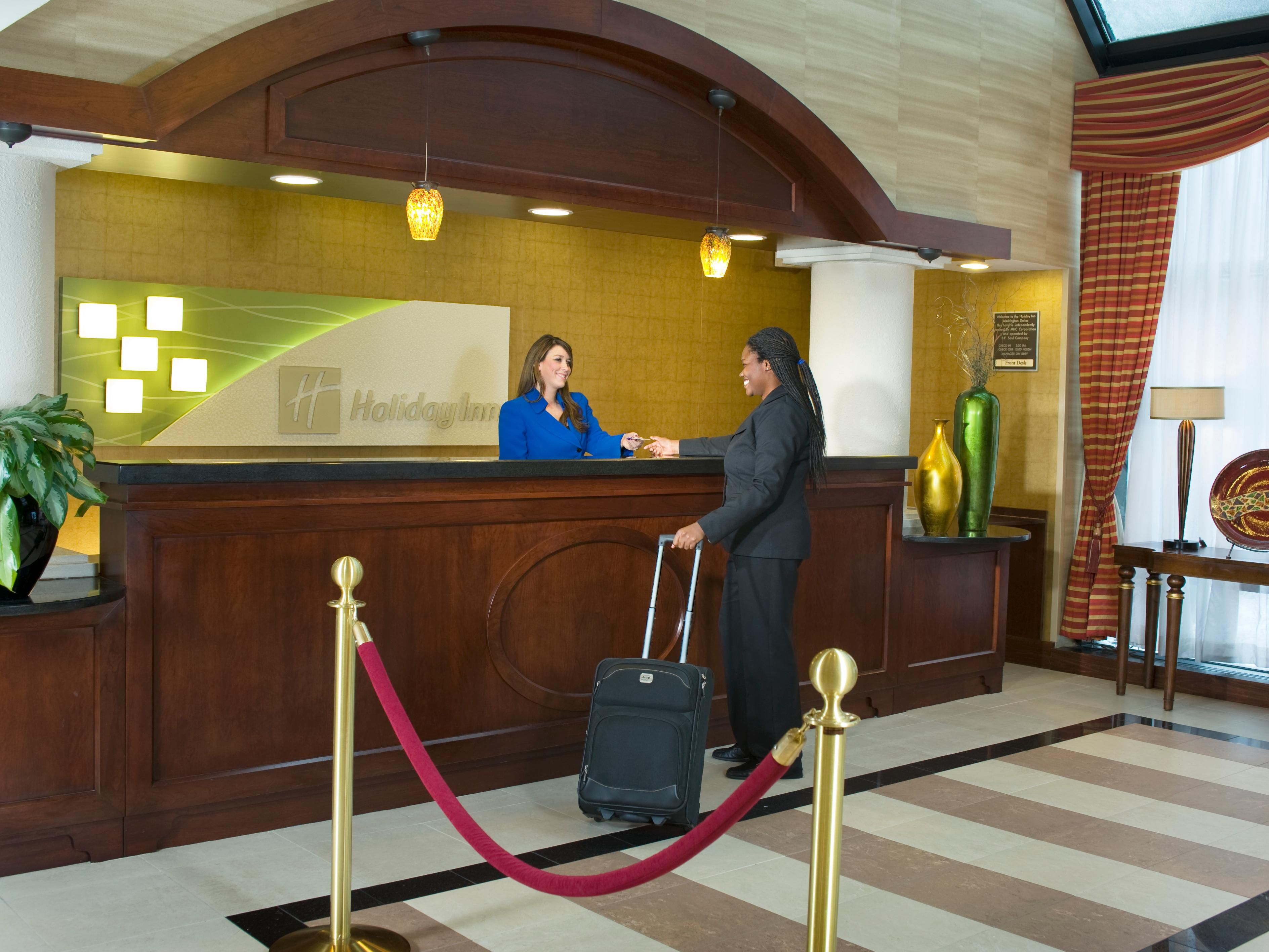 Our friendly Front Desk staff will welcome you with a smile