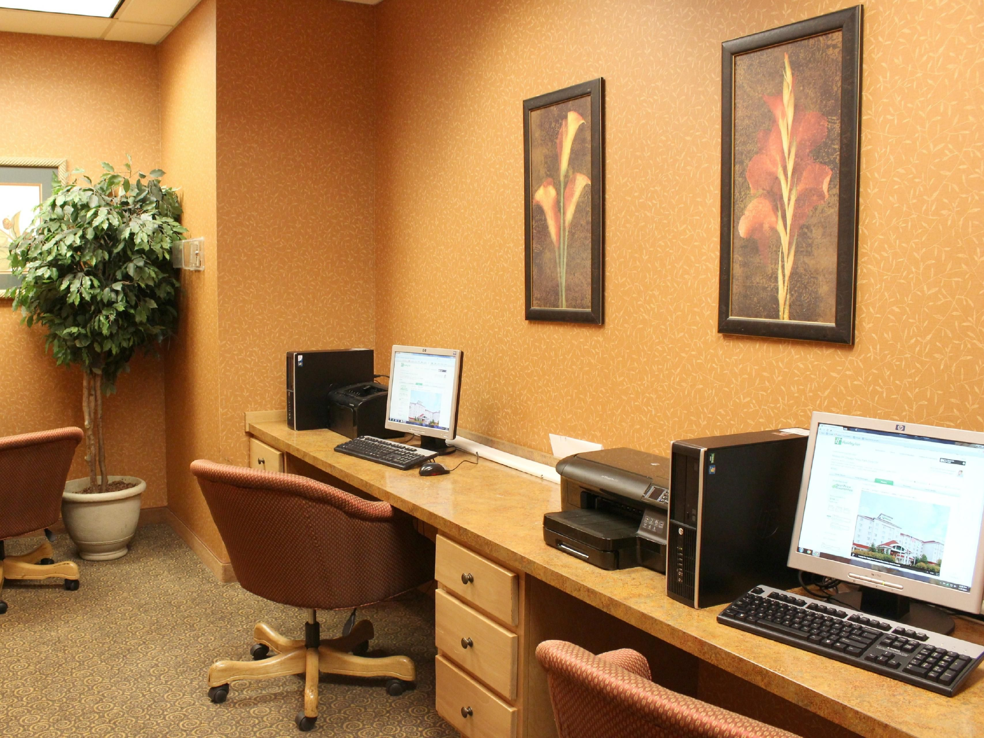 Business Center Located in Hotel Lobby