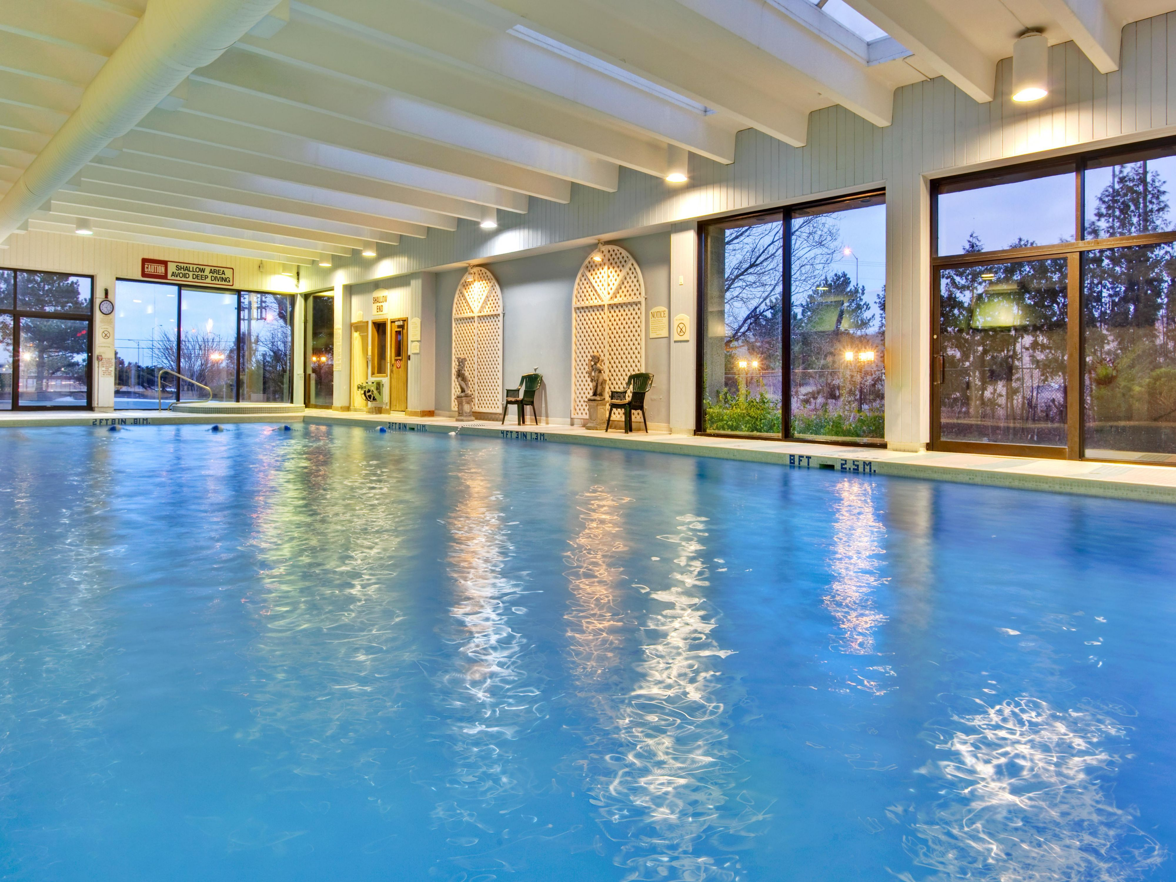 Rejuvenate in our large indoor heated pool. Open daily