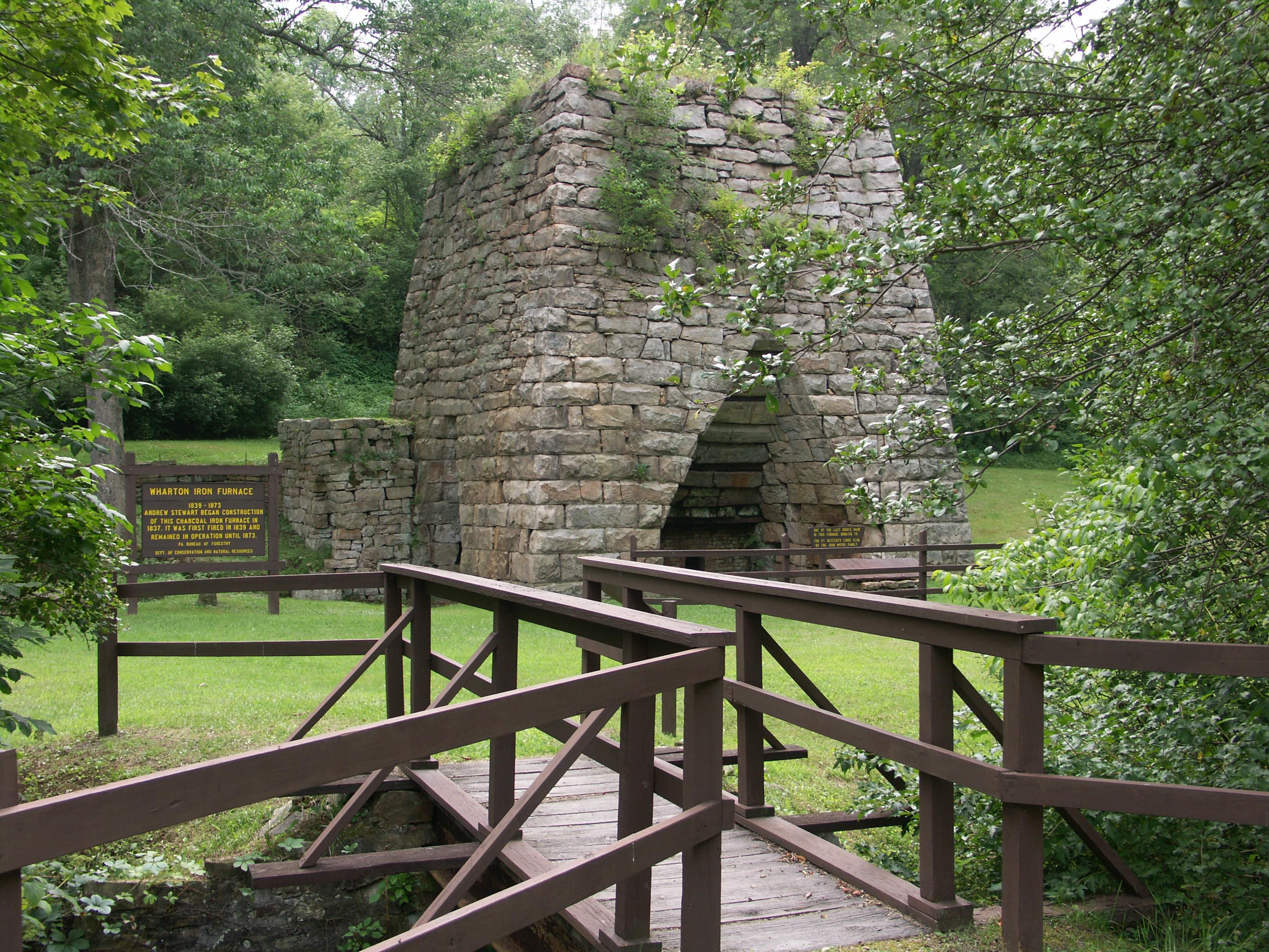 Go back in time when you visit Historic Wharton Furnace