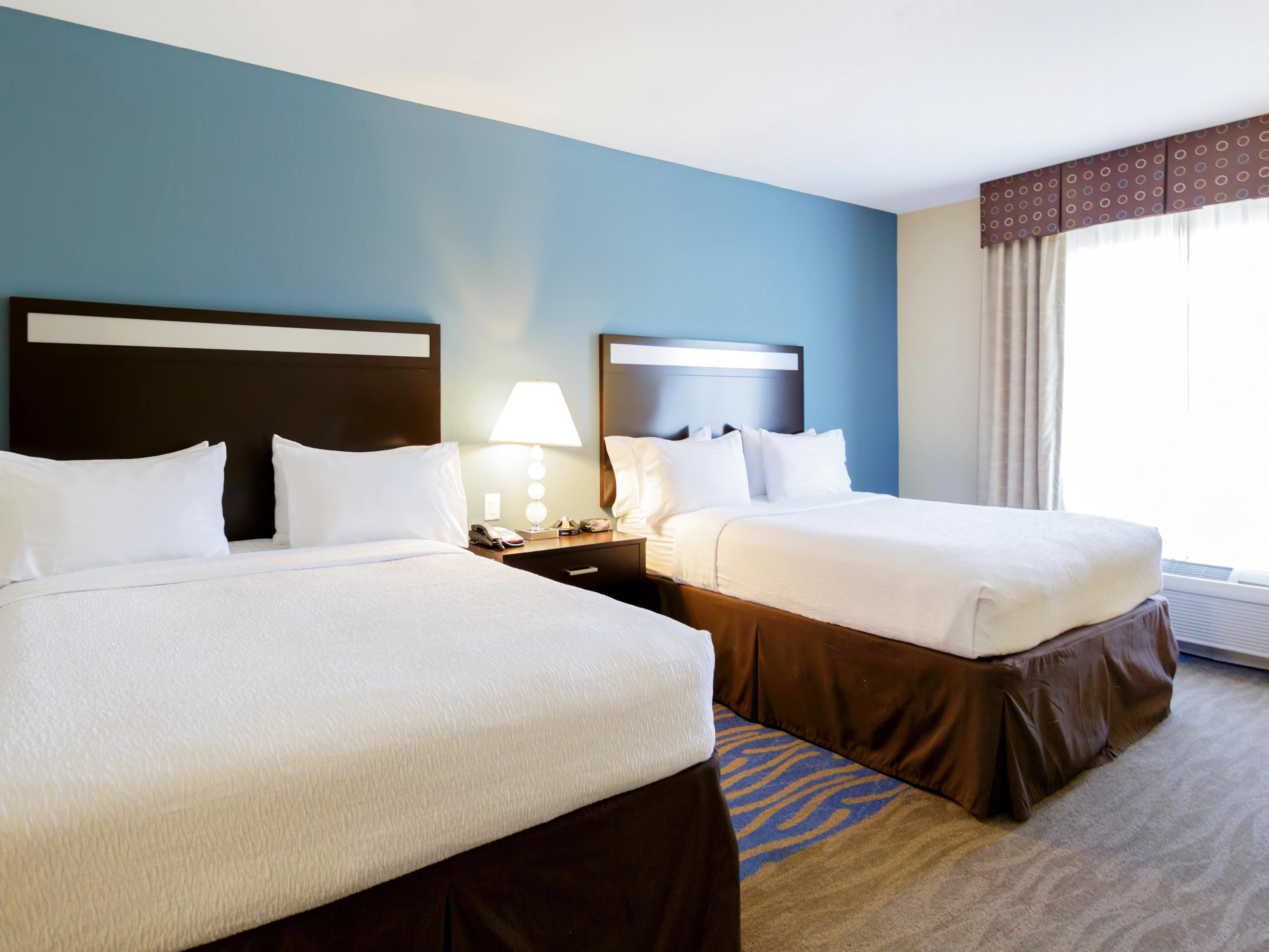 Spacious Two Queen Beds at the Holiday Inn Webster