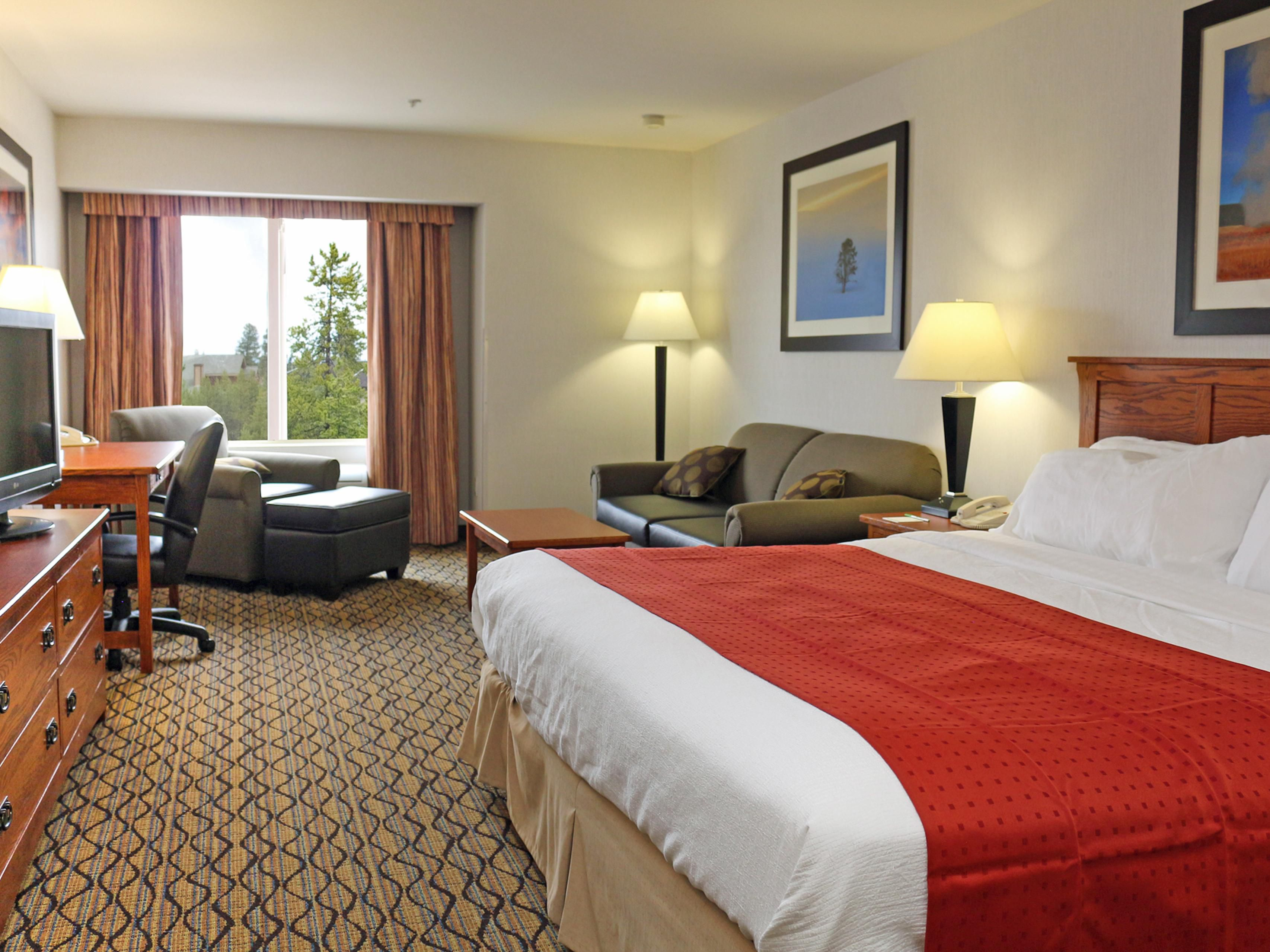 Renovated King Room at the Holiday Inn West Yellowstone