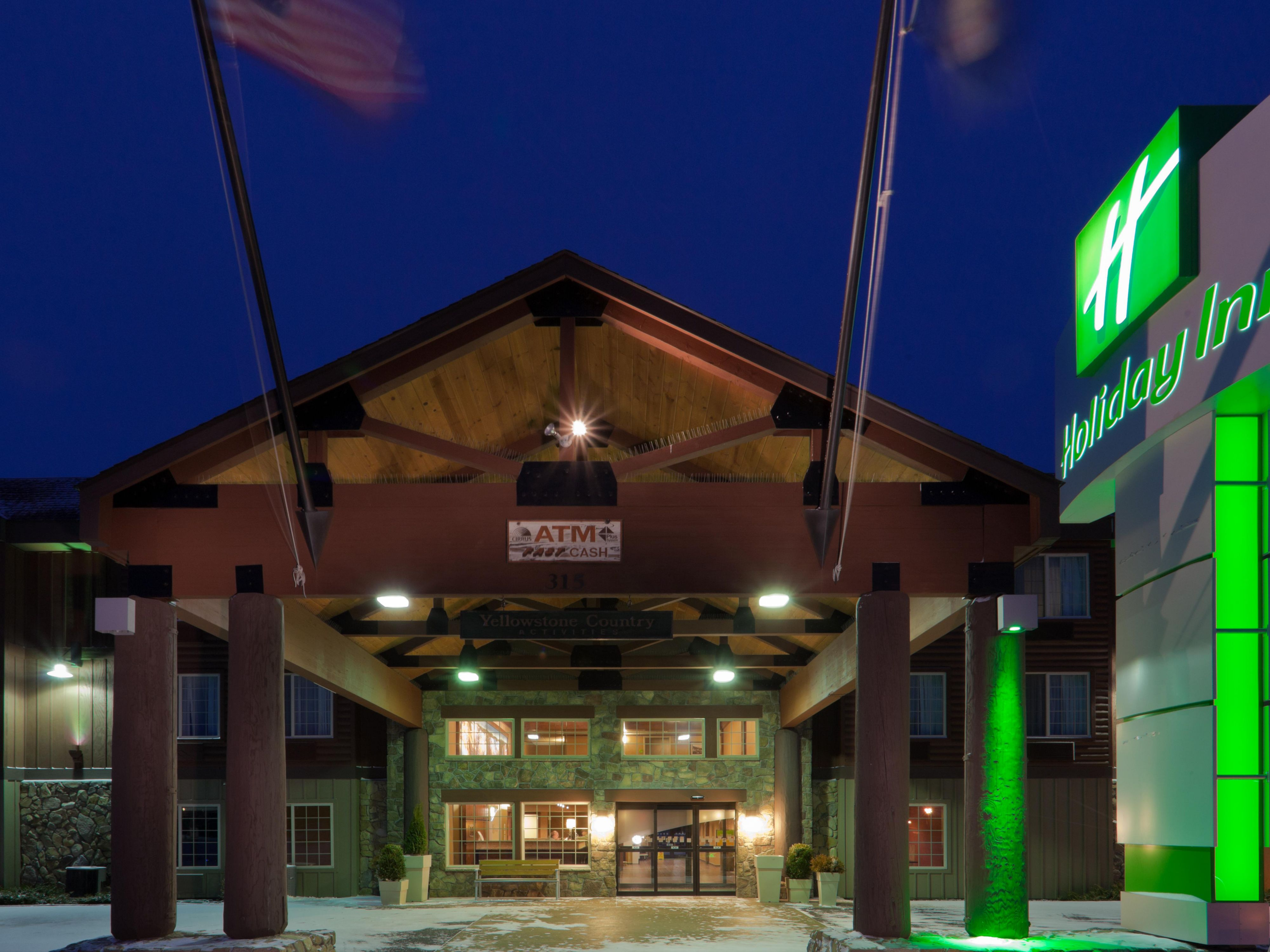 Holiday Inn hotel accommodations in West Yellowstone