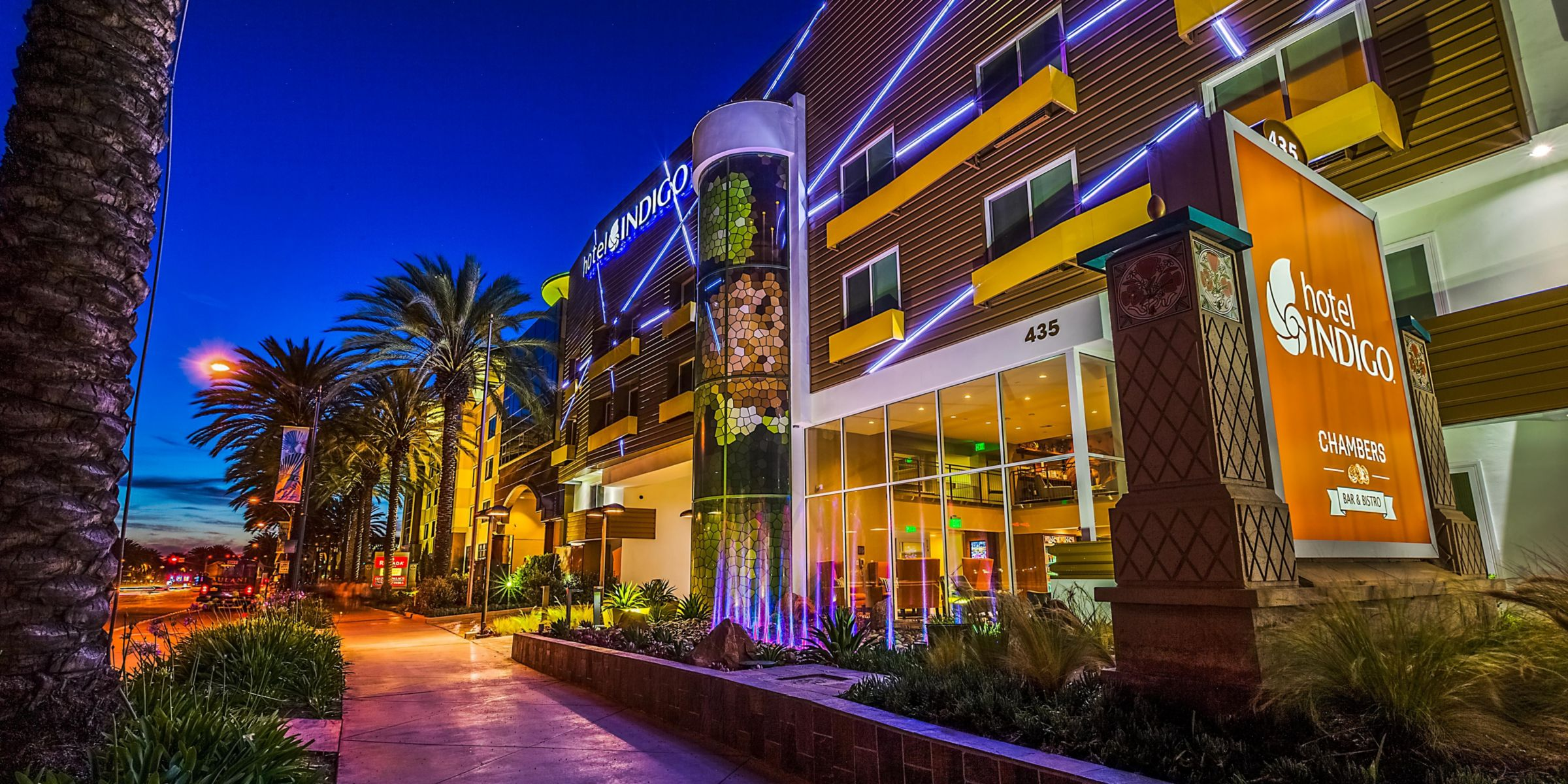 Hotel Indigo Anaheim Is A Short 15 Minute Walk To Disneyland Enjoy Our Nightly Water Fountain Music Show From 5 30 8