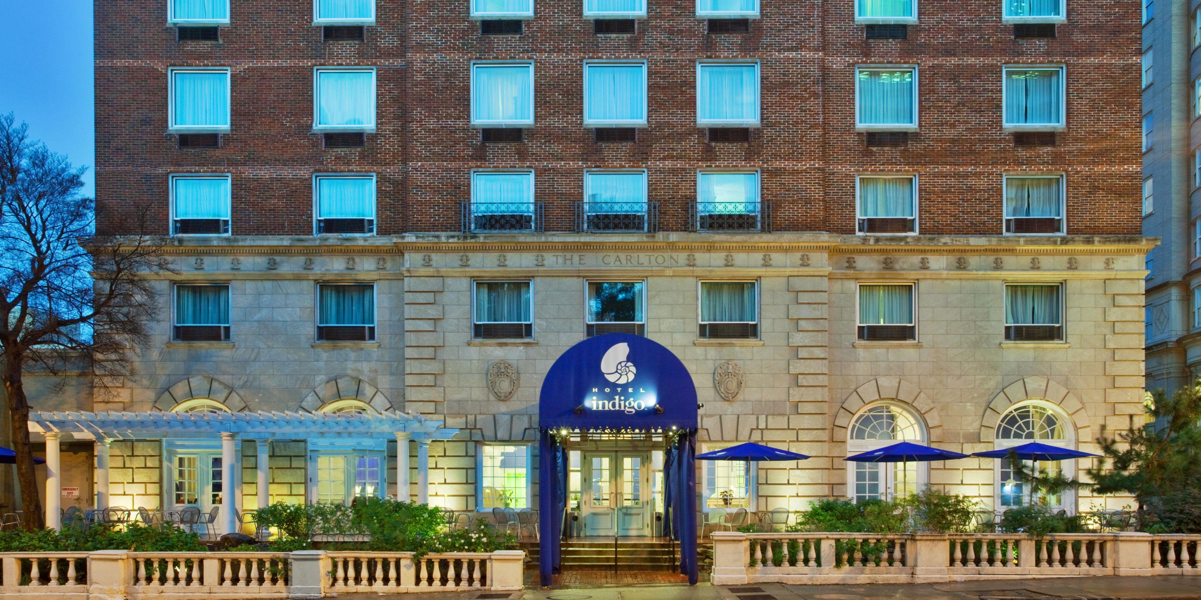 ... Hotel Indigo Front Entrance ...